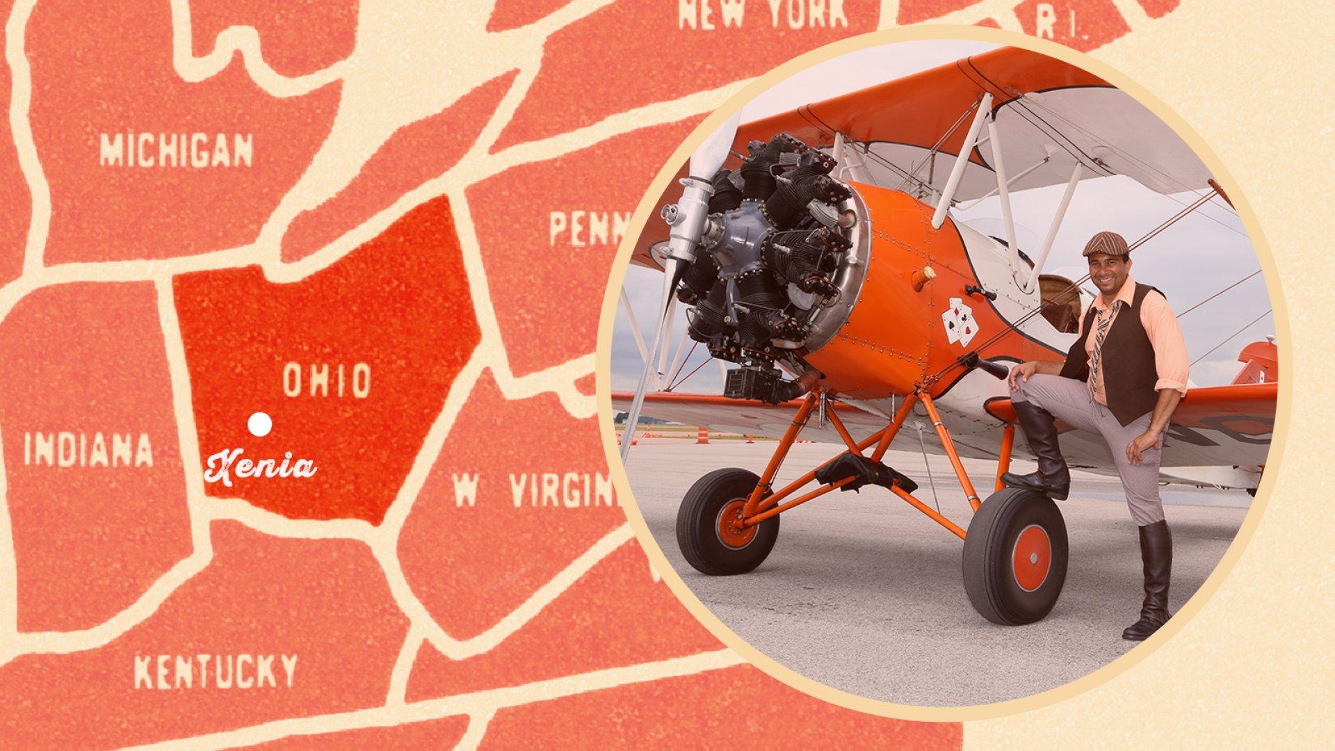 Dewey Davenport, owner of Goodfolk & O'Tymes Biplane Rides.
