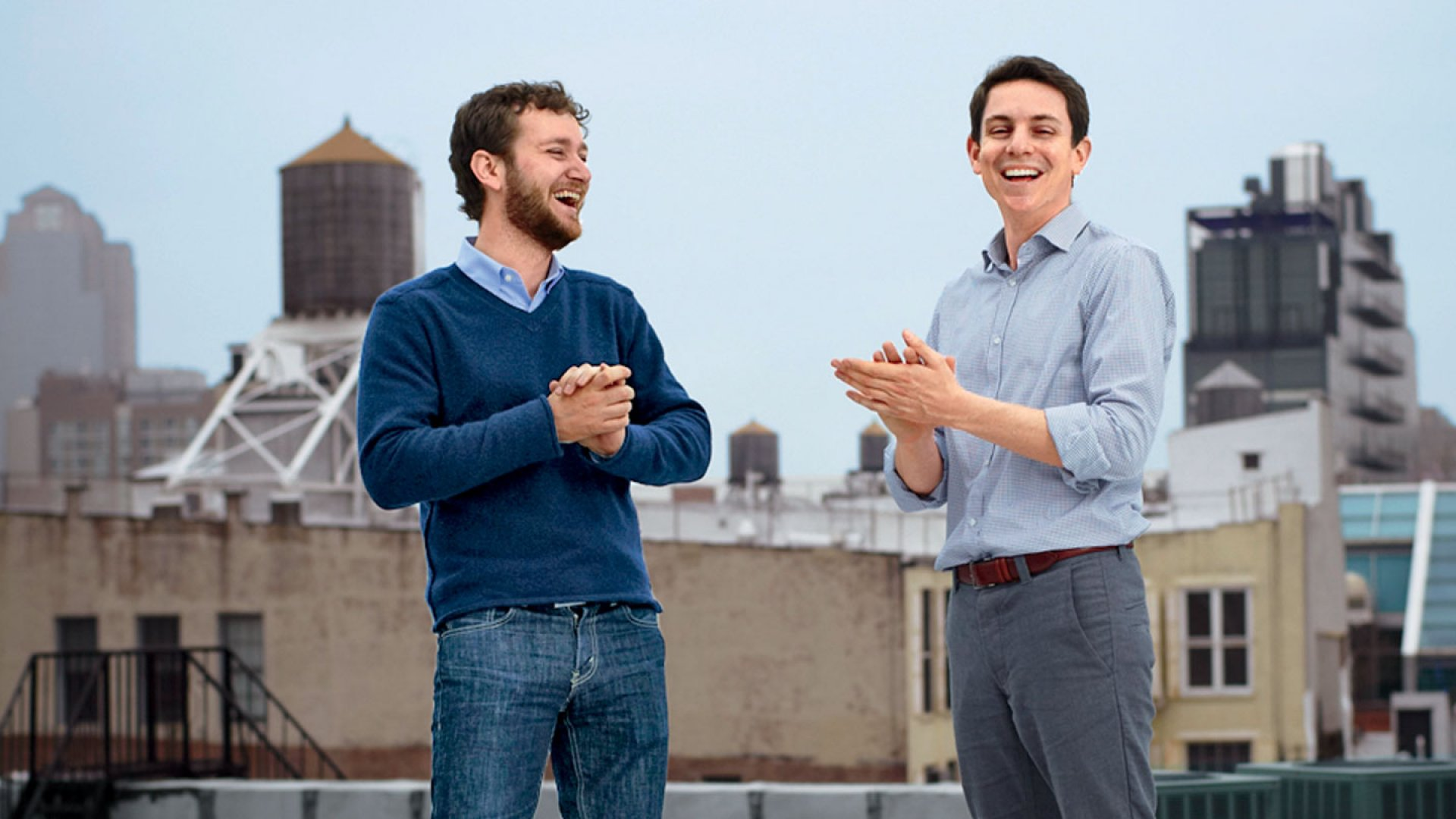 <b>Learning on the Fly:</b> Jon Stein and Eli Broverman, co-founders of personal-finance site Betterment.