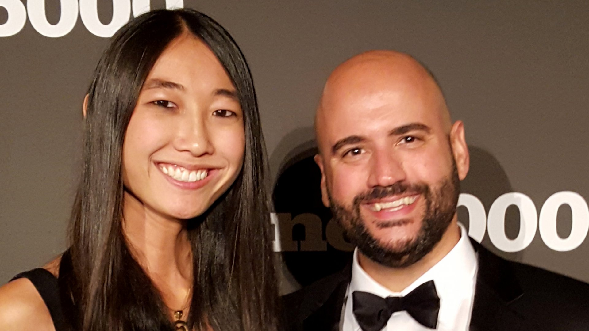 BioPoint Inc. co-founder Edwin Matos (right) poses with Jessica Mah, founder of San Francisco-based inDinero, at the Inc. 5000 gala.