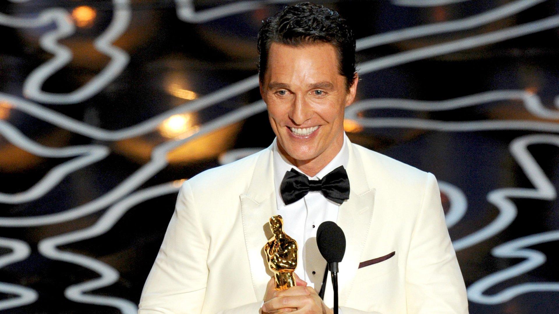 Leadership Lessons From Matthew McConaughey's Oscars Speech