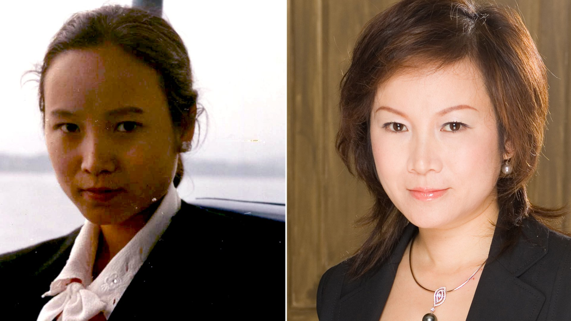 Mei Xu, 1987 (left) and now.