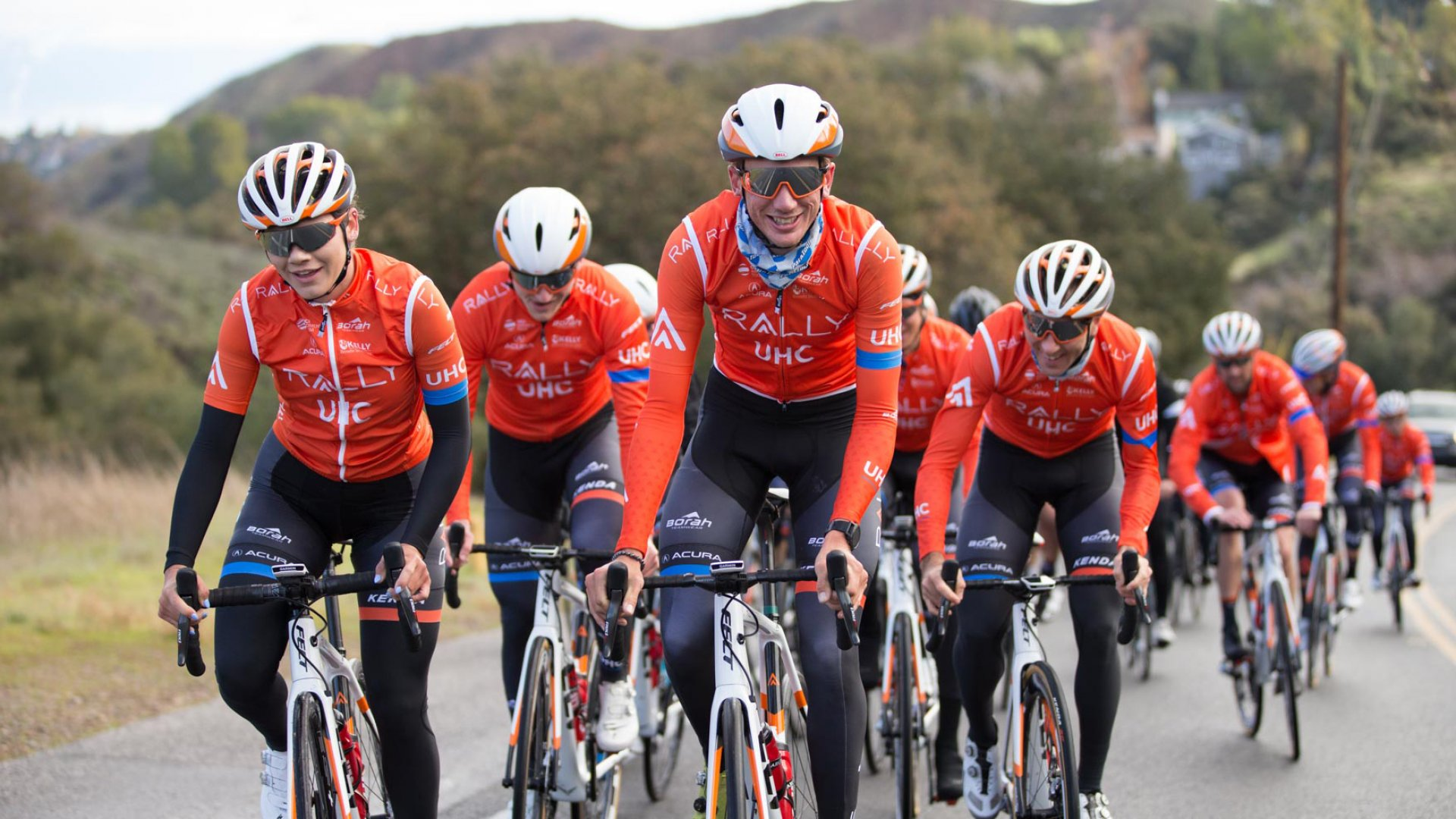 The Rally UHC Cycling team.