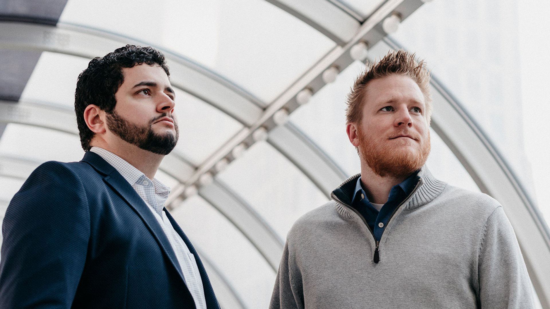 MeritHall co-founders Alex Riley (left) and Patrick Beal.