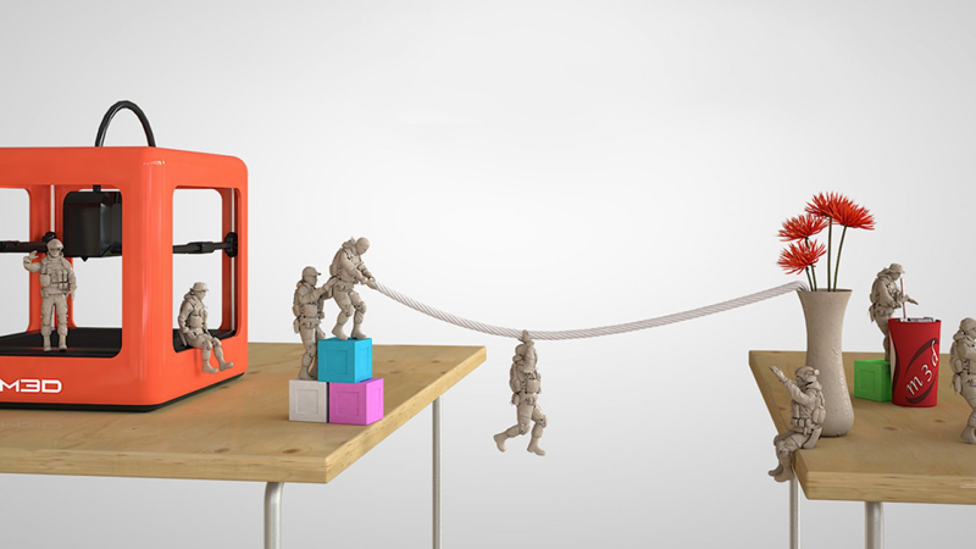 The Micro 3D printer from M3D.