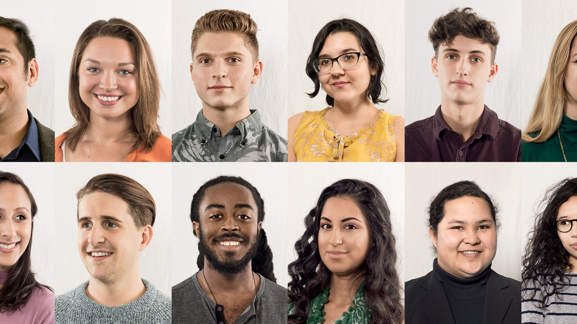 Pictured here are 12 of the first 55 students at MissionU, which runs a yearlong career training program that emphasizes skills as much as diversity. Forty-two percent of its first class of students–who hope to one day work for the school's partner companies–are African American, Hispanic, or Native American.