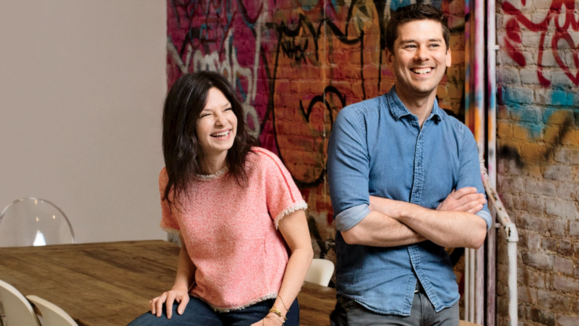 Michelle Gauthier and Justin Schwartz in her apartment, from which they run Mulberry & Vine.
