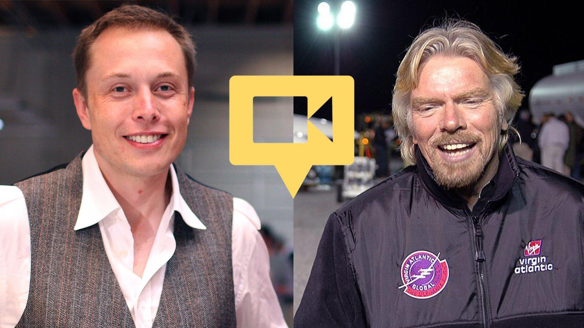 Elon Musk and Richard Branson's Best Advice for Entrepreneurs