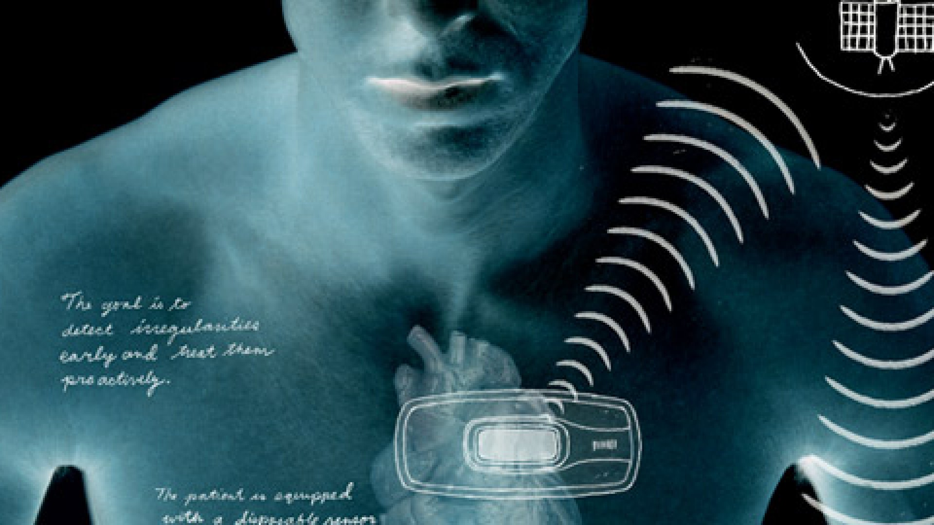 <strong>TRUE BLOOD</strong> Corventis's cardiac monitor feeds a stream of data to doctors.