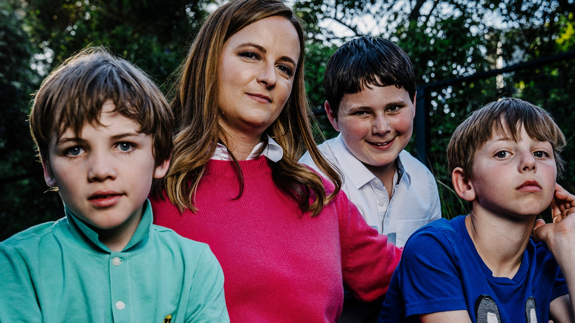 Amy Norman and her children. From left to right: her stepson, Rex, her oldest son, Cole, and her son Will, who was born shortly after she launched Little Passports in 2009.