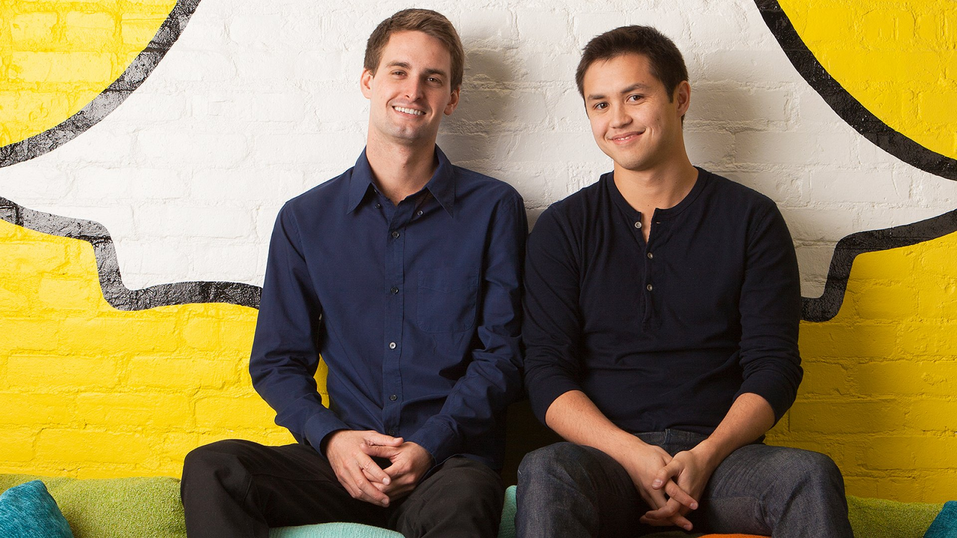 Snapchat co-founders Evan Spiegel (left) and Bobby Murphy.