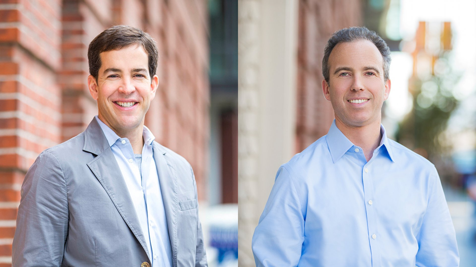 From left to right: Todd McKinnon and Frederic Kerrest, Okta's co-founders