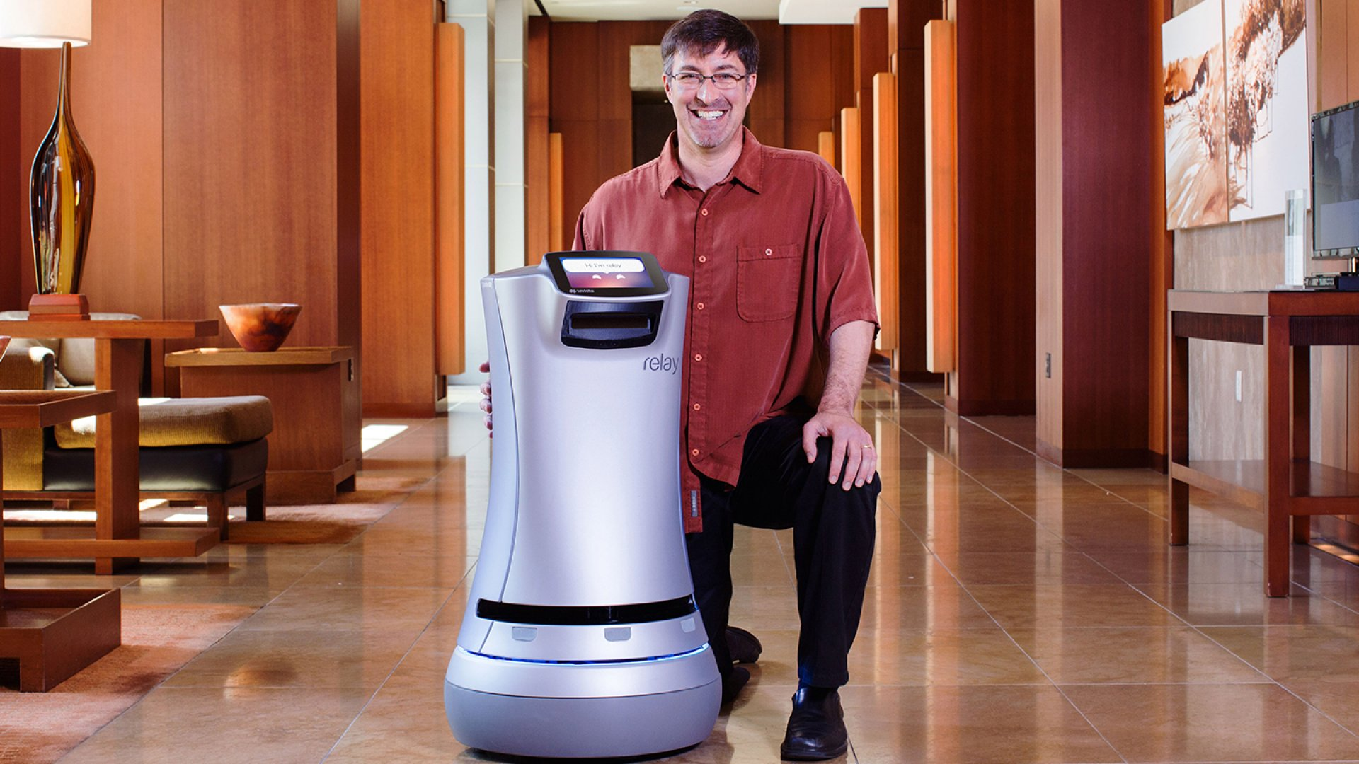 Relay, Savioke's delivery robot, has been adopted by hotels in California.