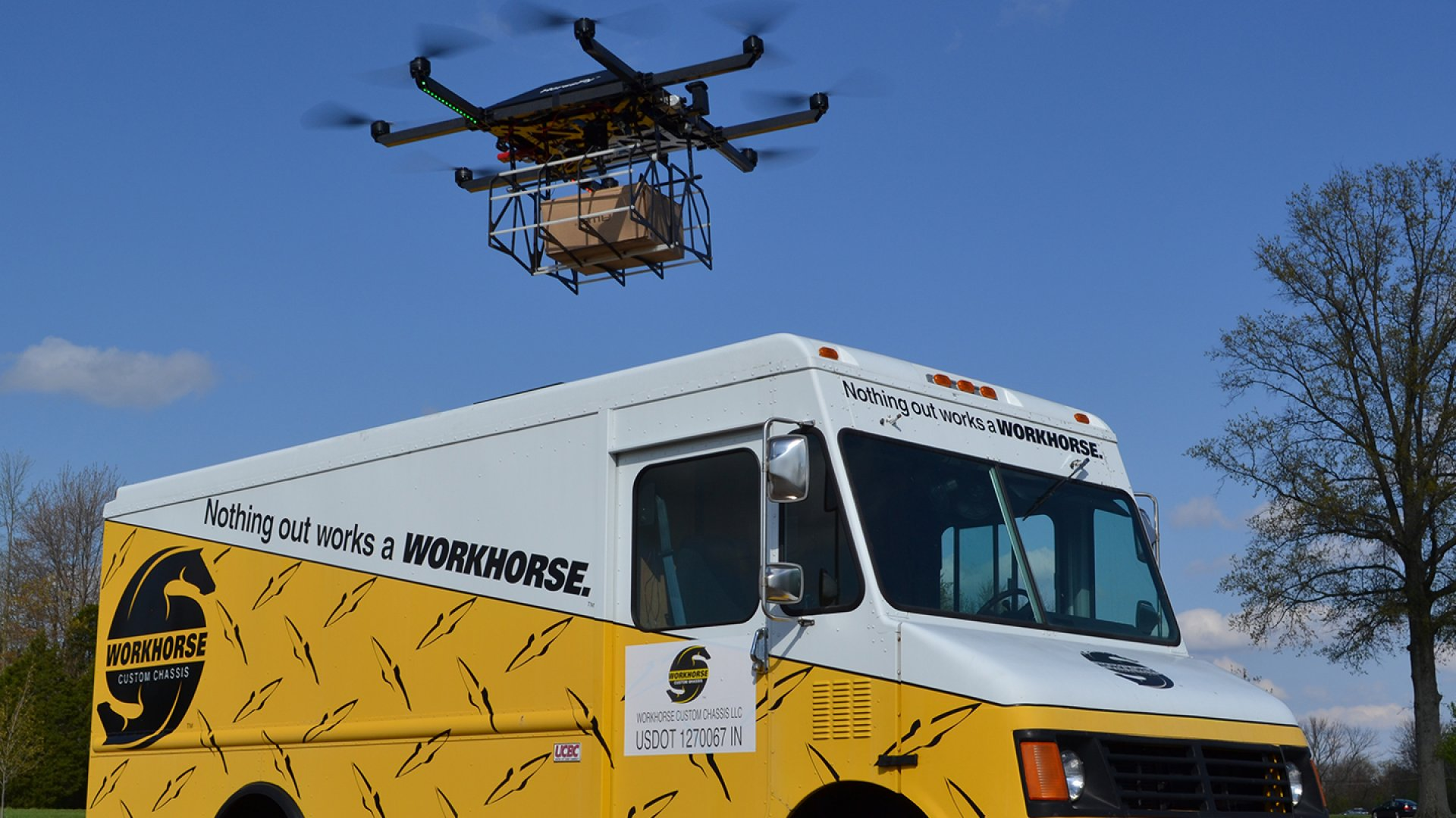 Workhorse, an electric truck manufacturer that sells to UPS, is working on a new truck outfitted with a drone loading dock and launch pad on the roof. As soon as commercial drone laws pass, Workhorse hopes to supply delivery companies with its technology.