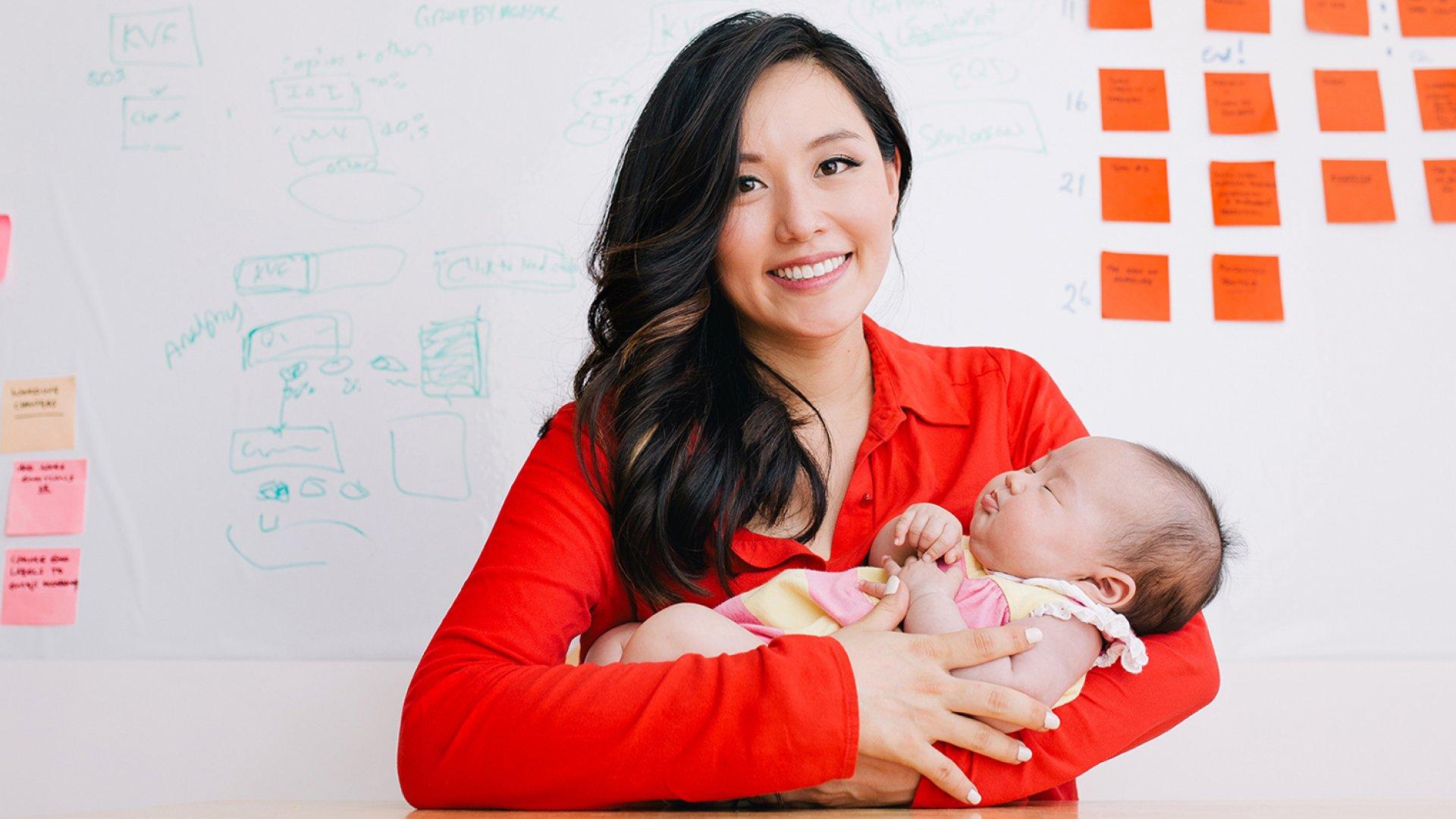 Carol Reiley, co-founder of Drive.ai and new mom to daughter Nova.