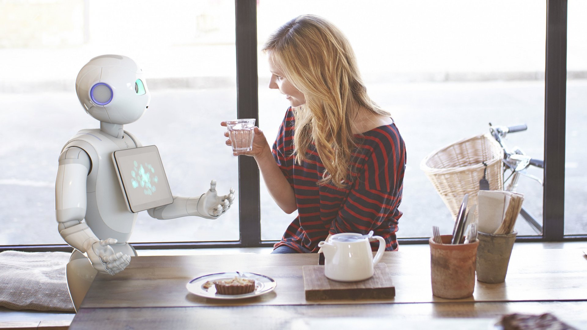Aldebaran's humanoid robot, Pepper.