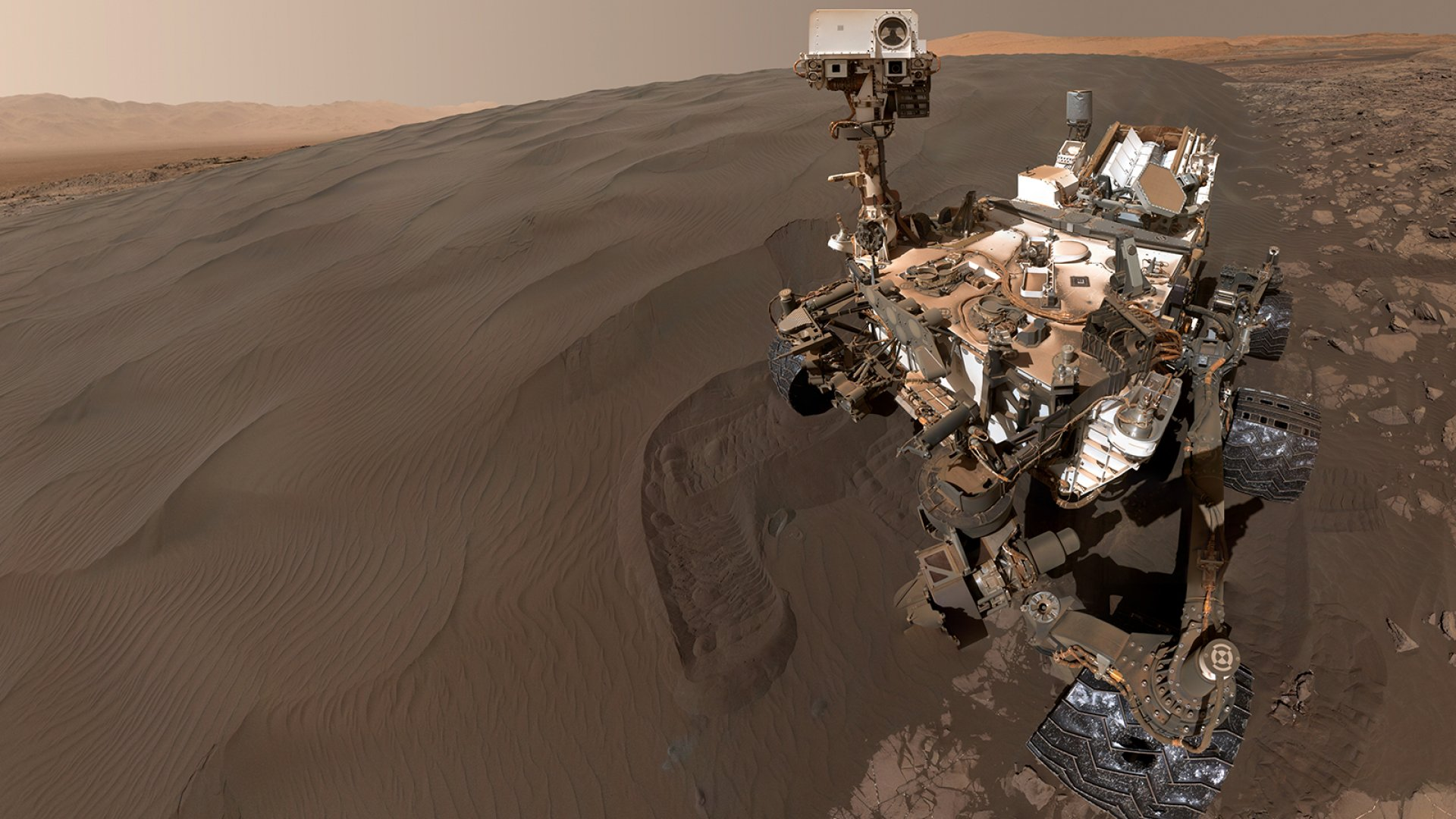 NASA's Curiosity Rover on the surface of Mars.