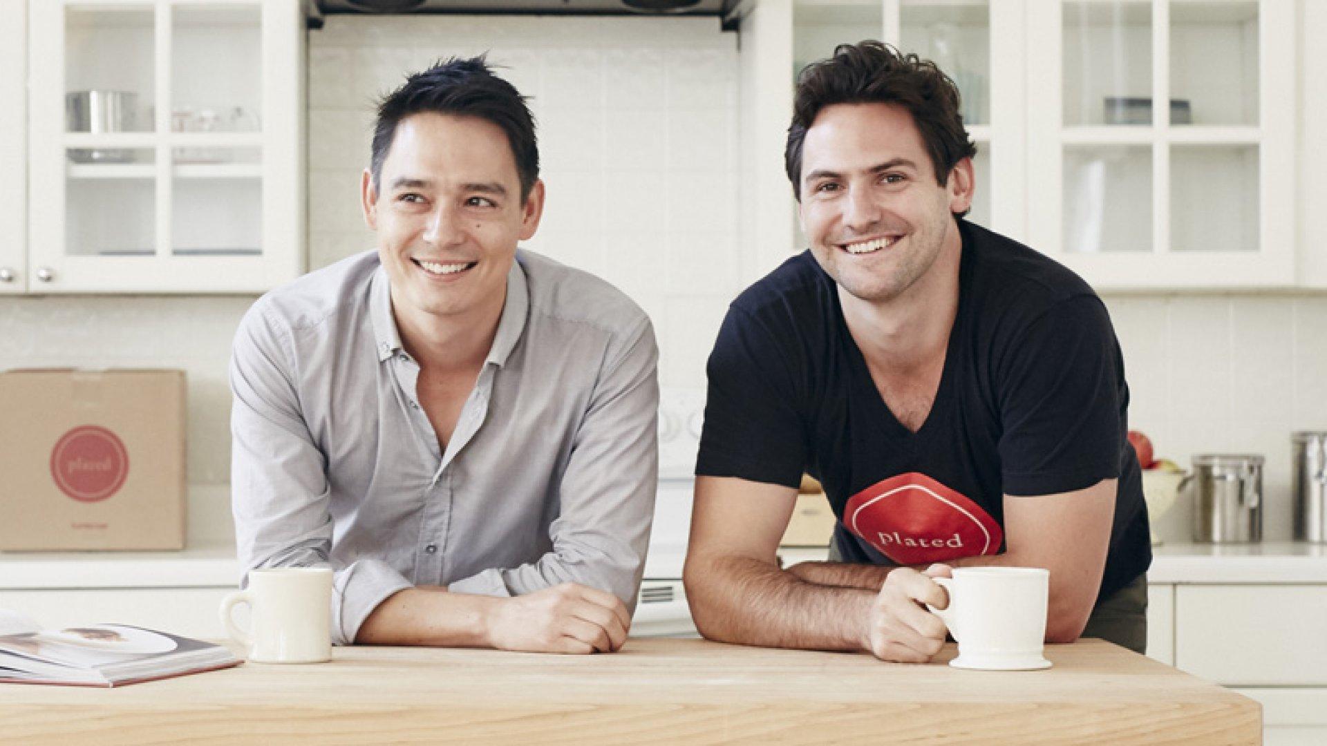Plated co-founders Josh Hix (L) and Nick Taranto.