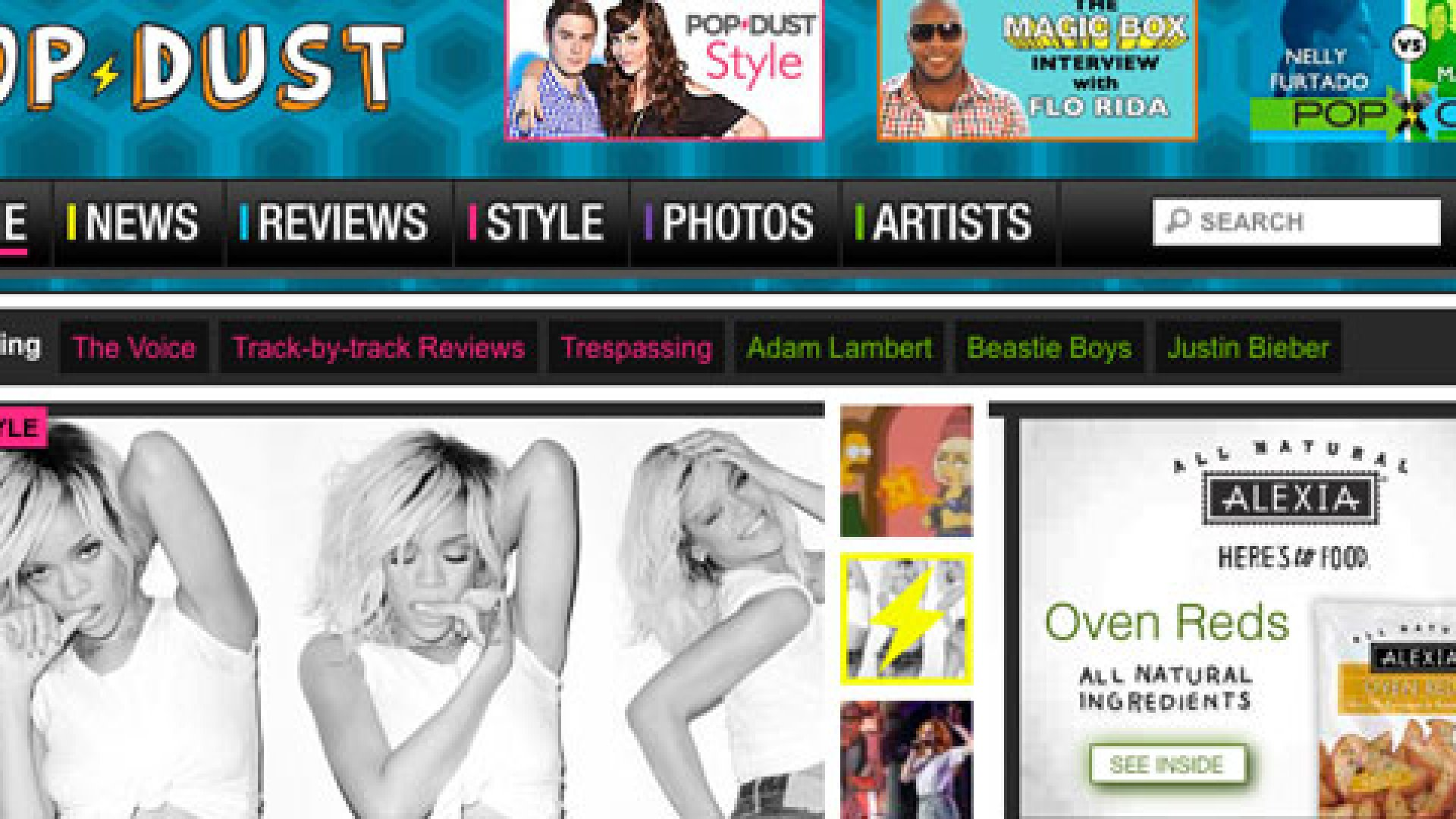 Popdust, a pop-culture site launched this year, feeds hungry fans a steady diet of the latest pop-music news, reviews, and videos.