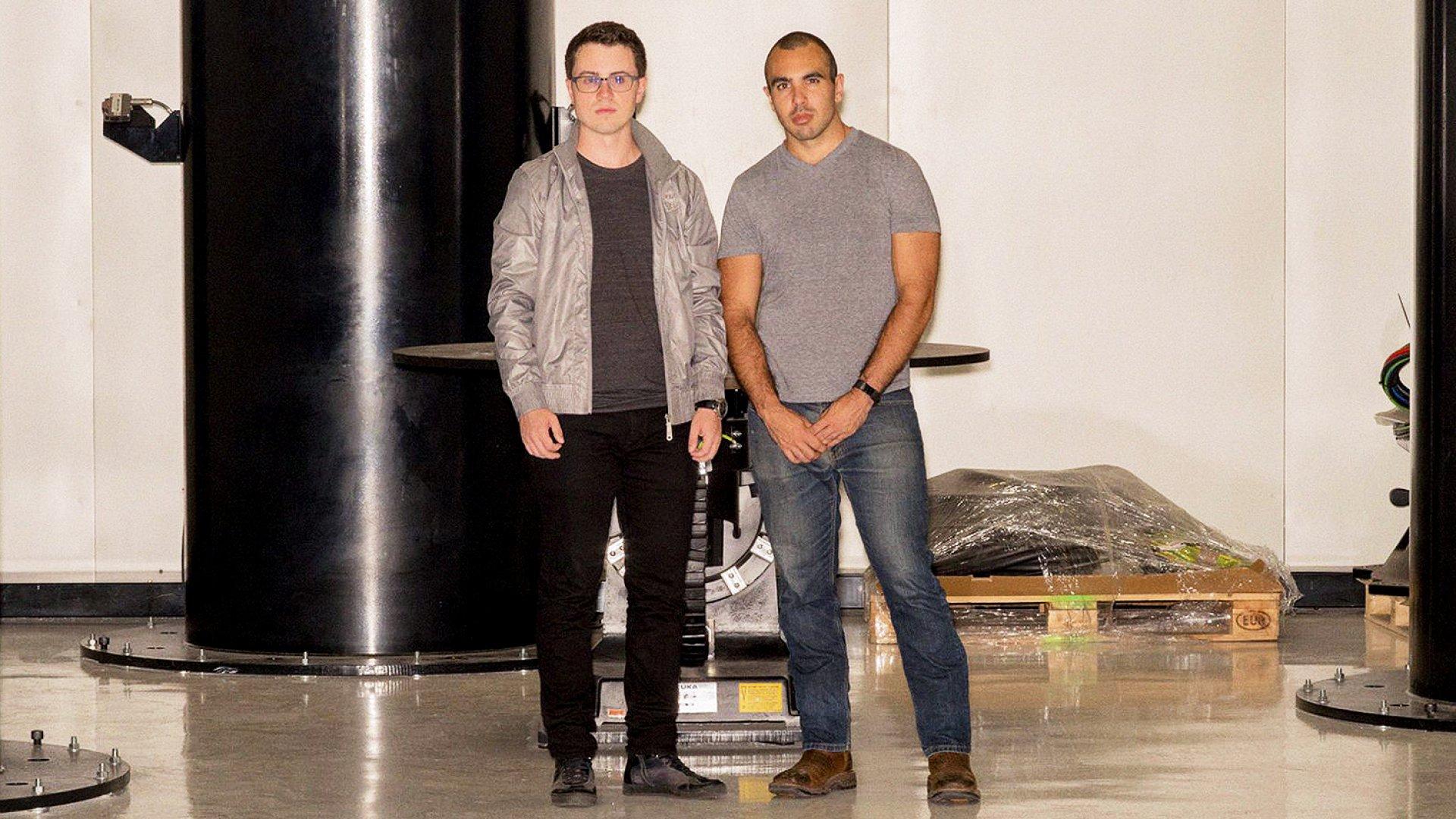 Relativity Space co-founders Tim Ellis and Jordan Noone.