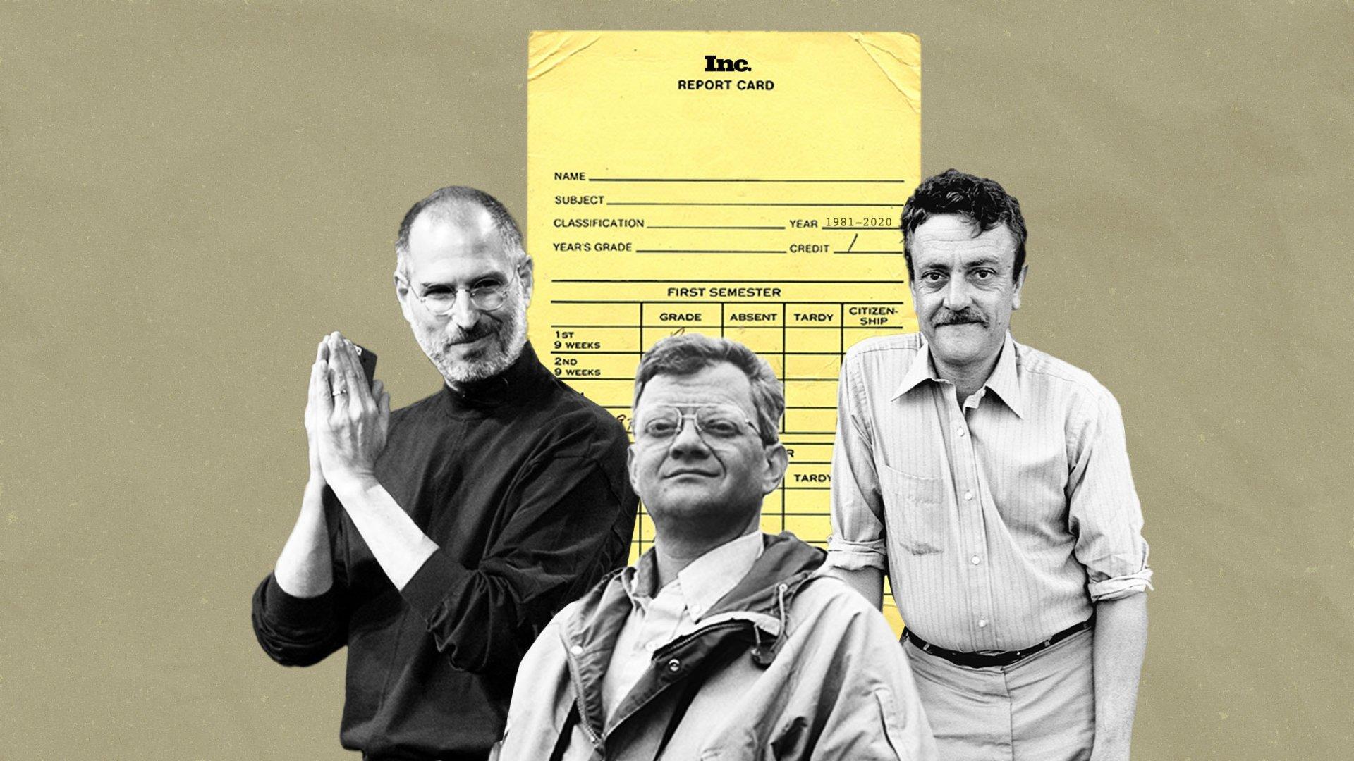 Steve Jobs, Tom Clancy, and Kurt Vonnegut.