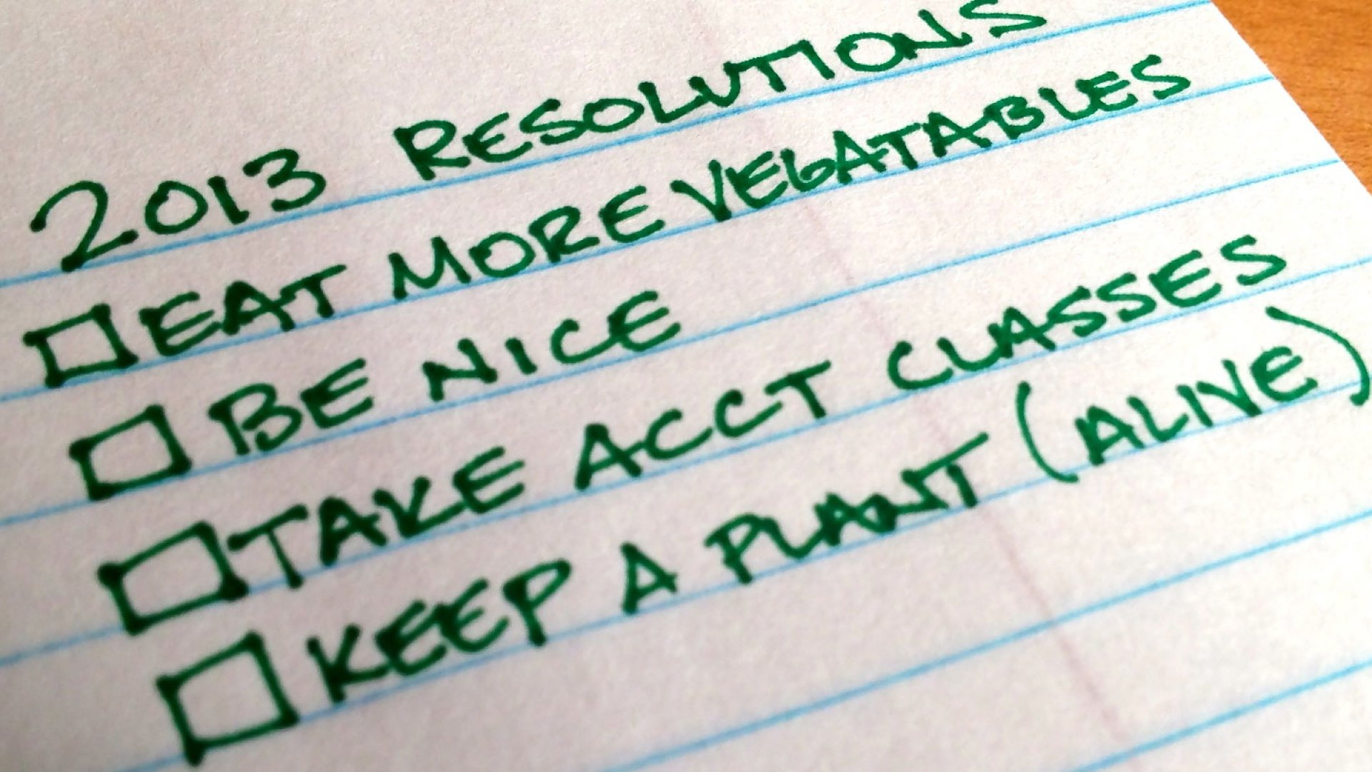 5 Anti-Resolutions for 2013
