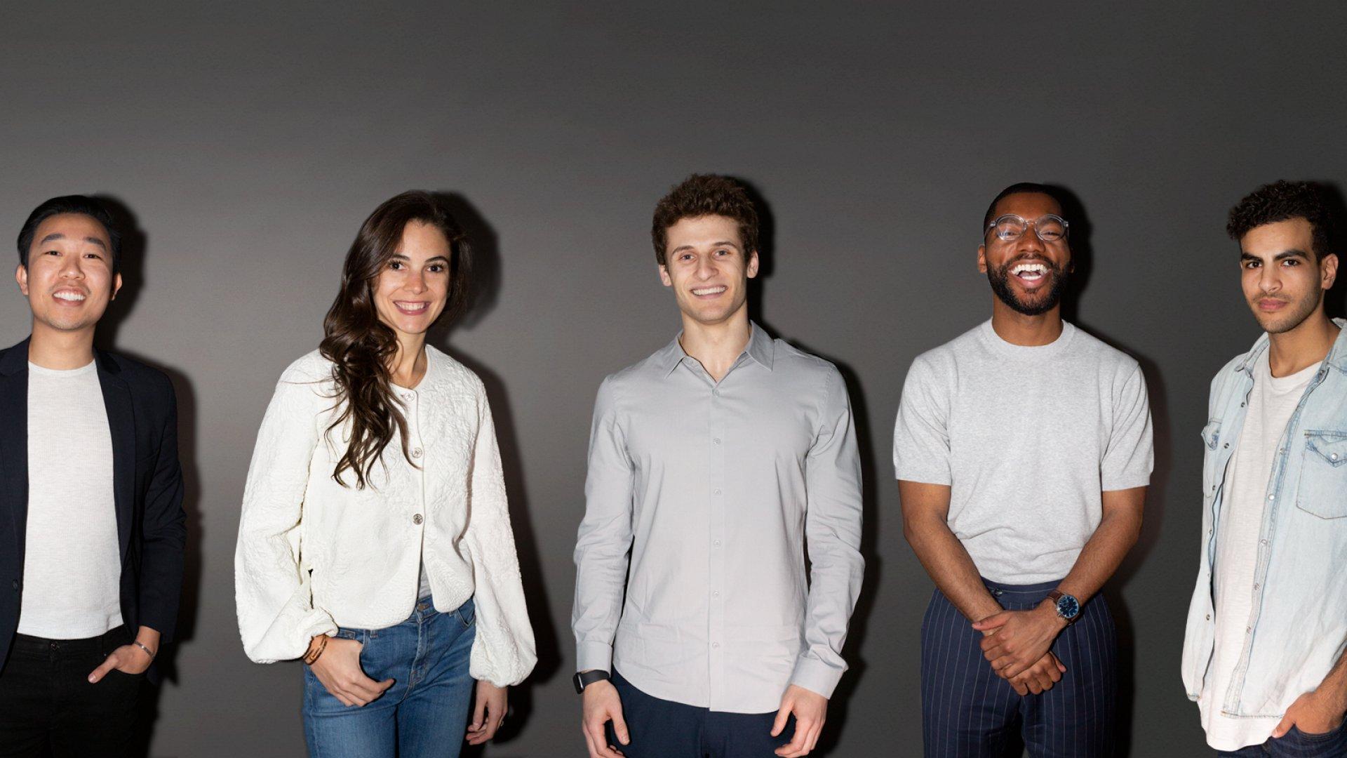 From left: Joseph Quan, Twine; Tiana Tenet, The Culinistas; Zachariah Reitano, Ro; Brandon Bryant, Harlem Capital Partners; Ahmed Beshry, Caper