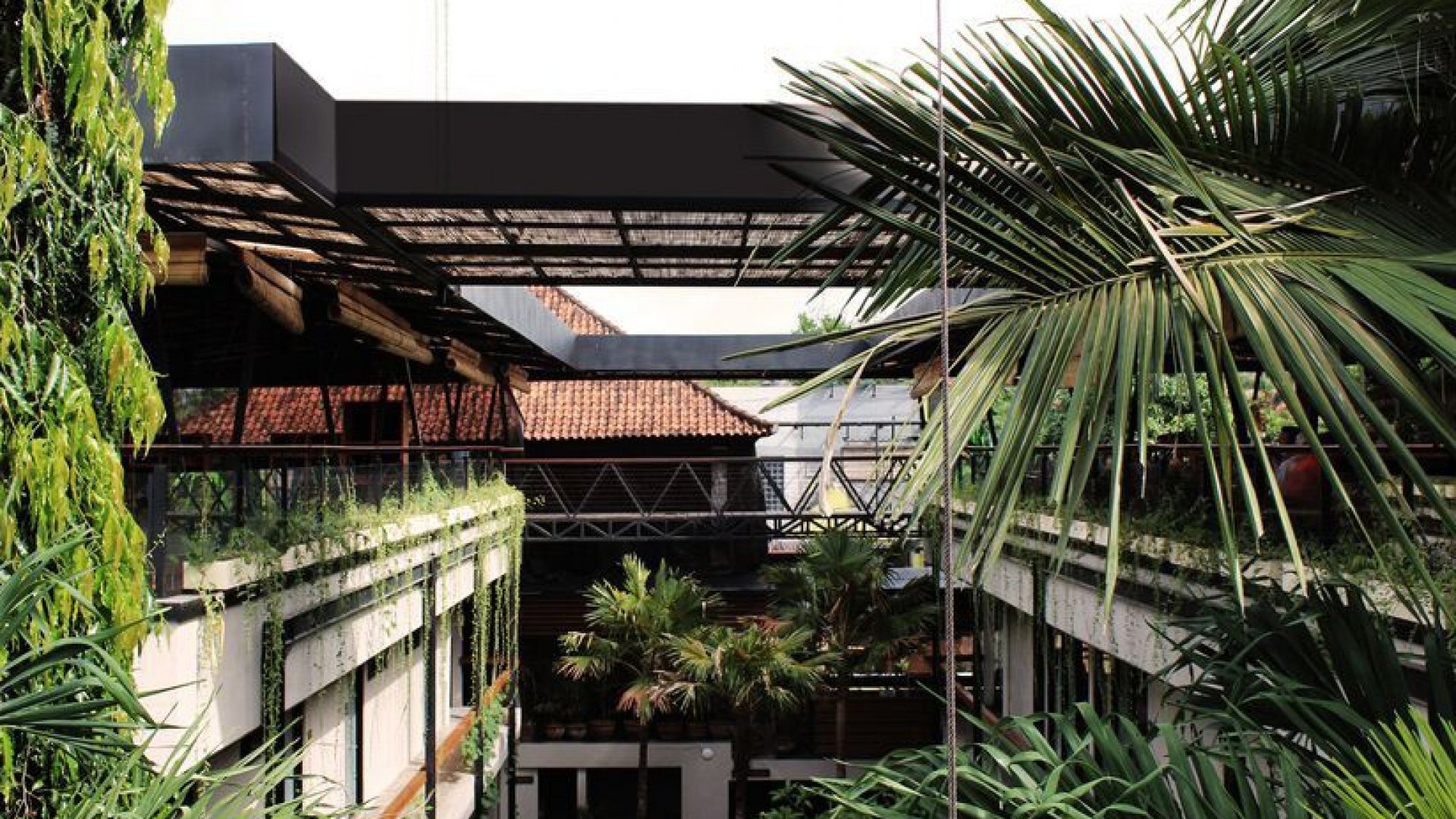 Roam's communal living space in Ubud, Bali.
