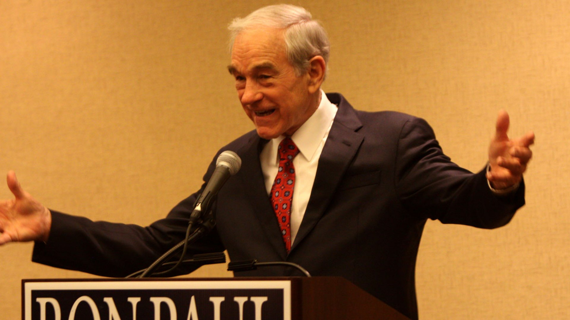 Rep. Ron Paul on the campaign trail earlier this year.