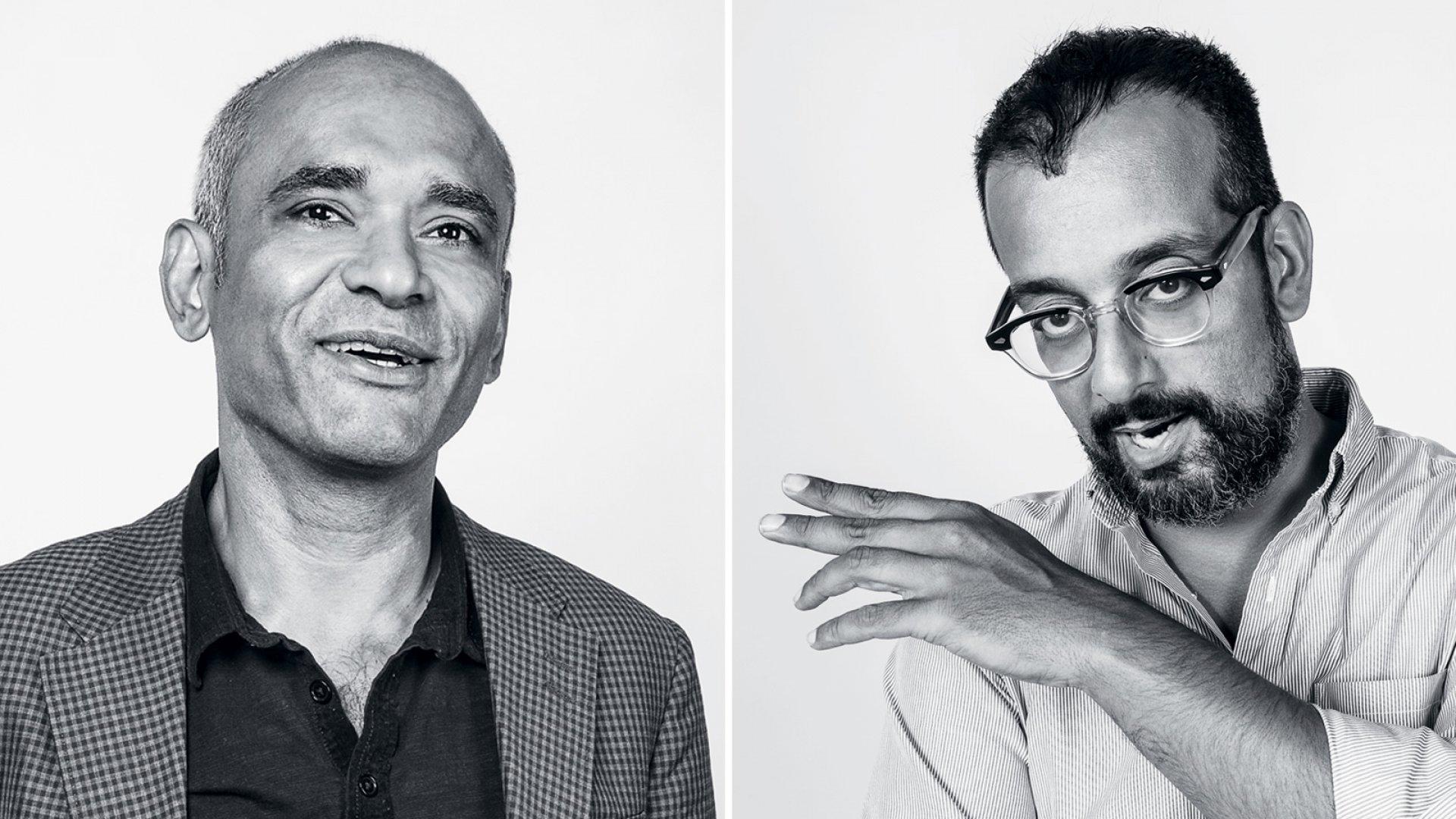 Chet Kanojia (Left), Suroosh Alvi.