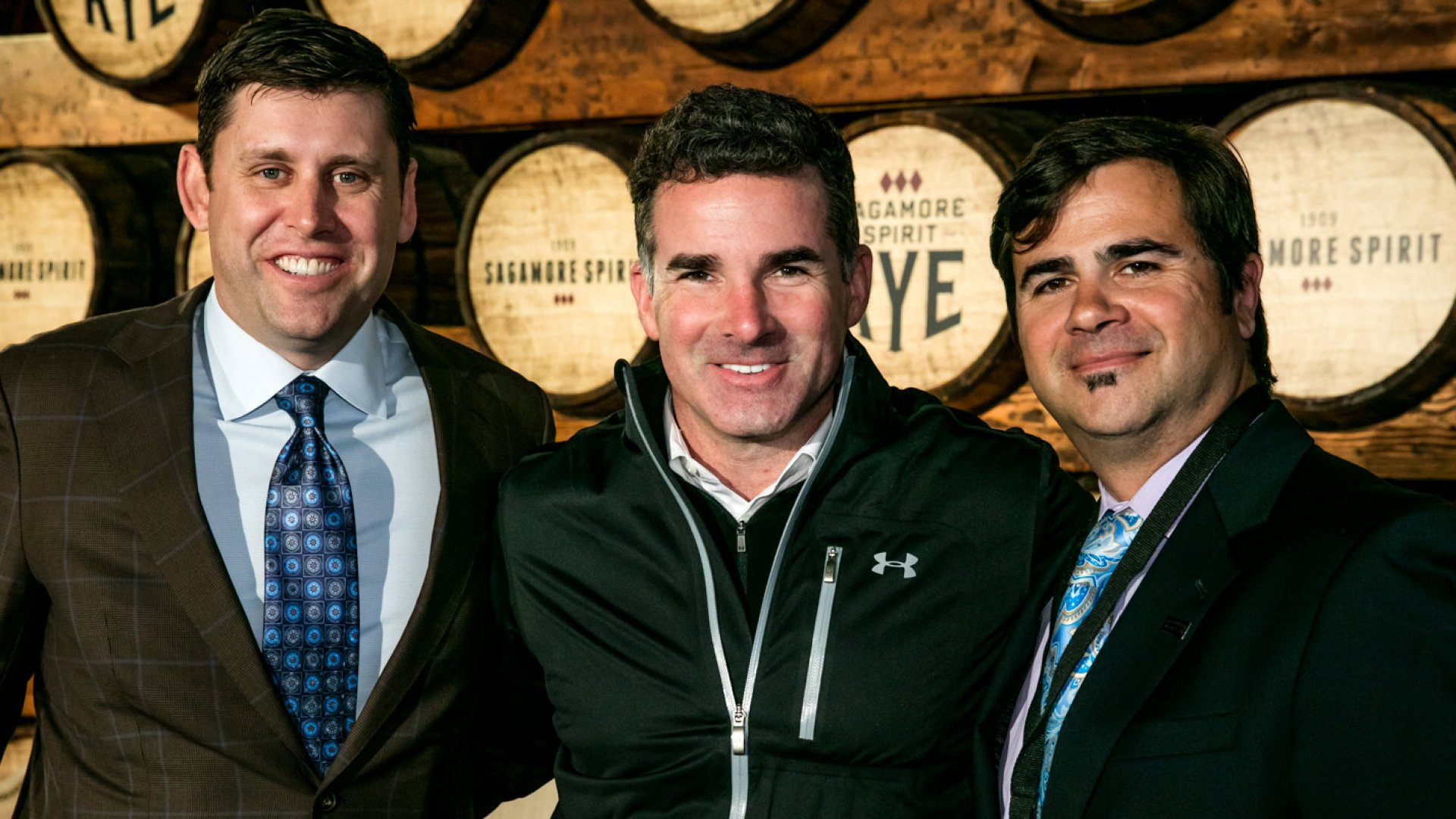 From left: Bill McDermond, co-founder of Sagamore Spirit, Kevin Plank, and Brian Treacy, president of Sagamore.