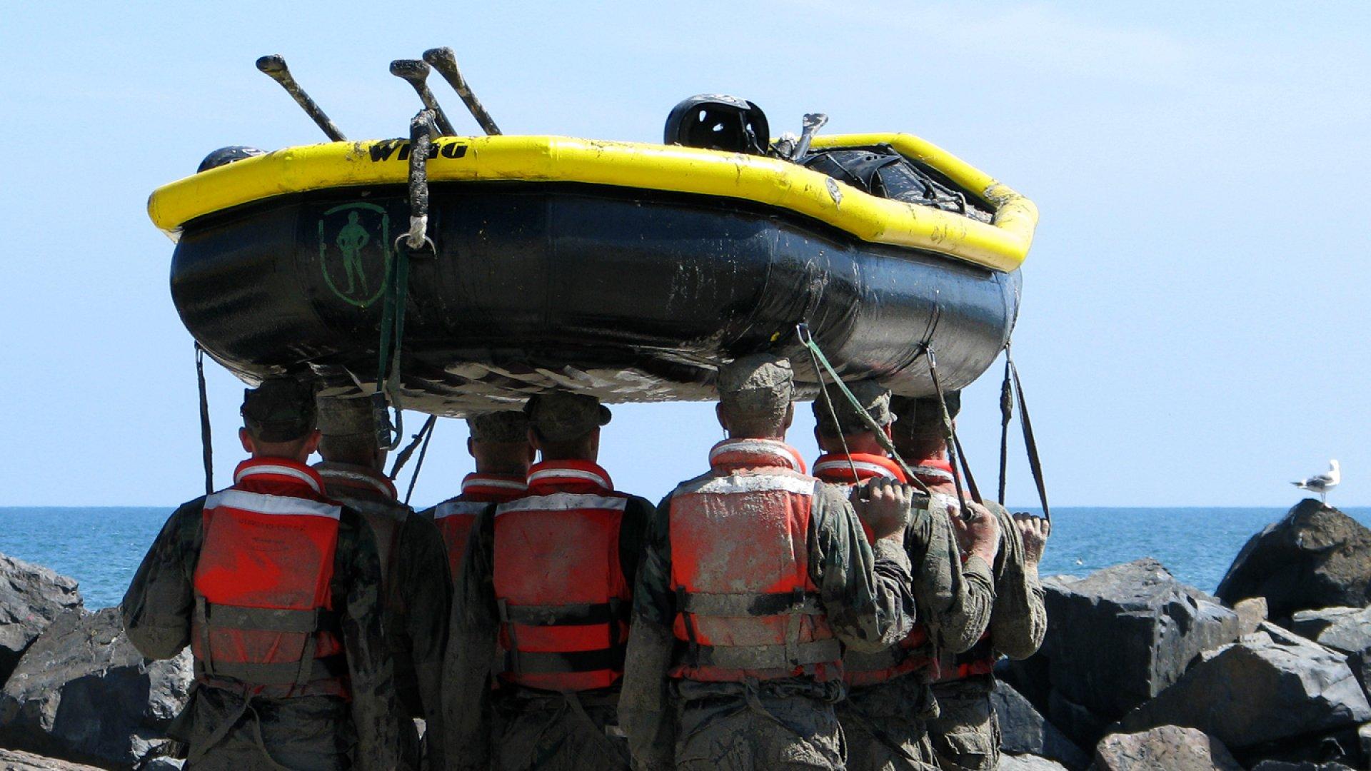 Navy SEAL candidate training. Coronado Island, San Diego.