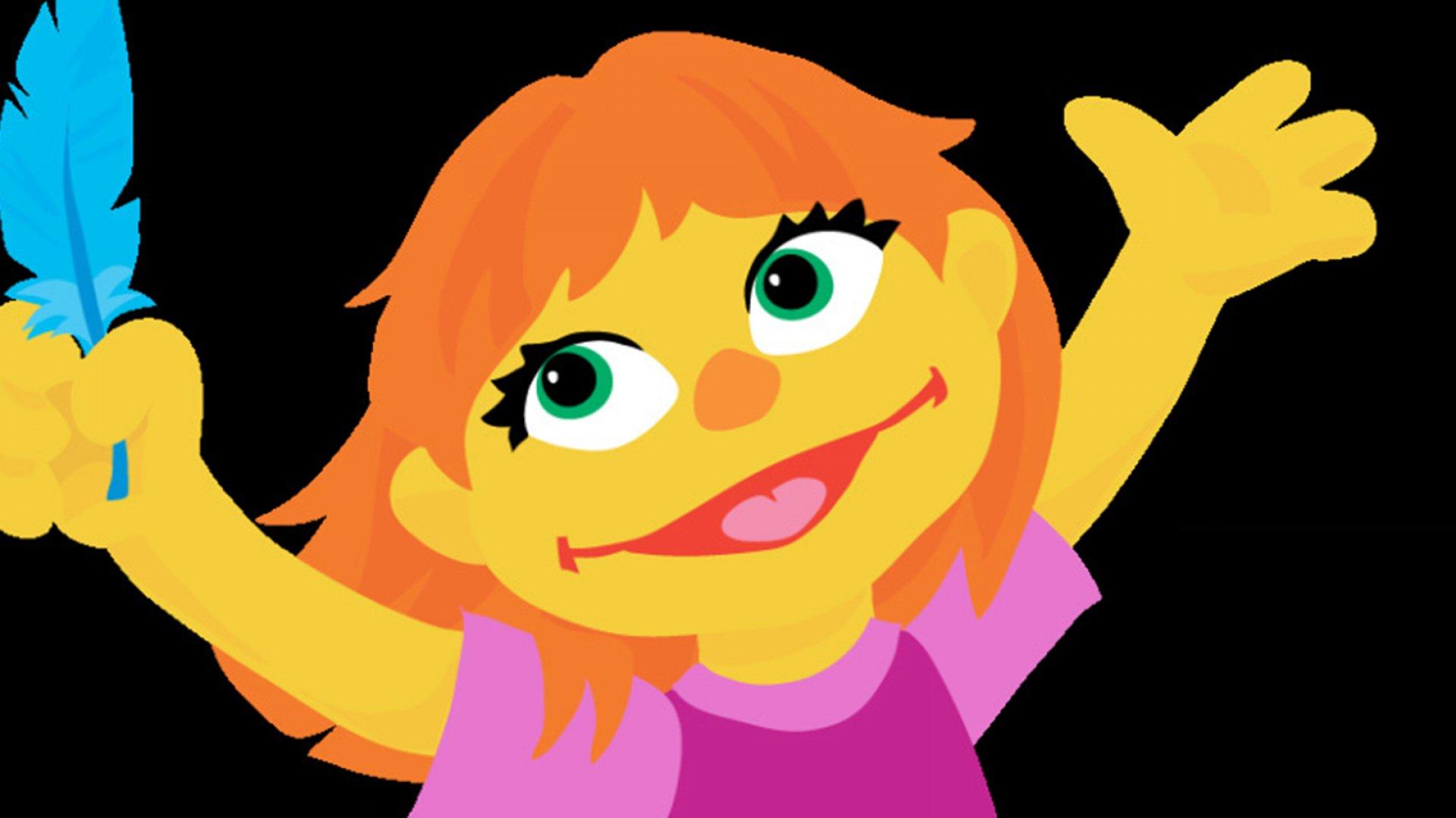 Julia on <em>Sesame Street</em>.