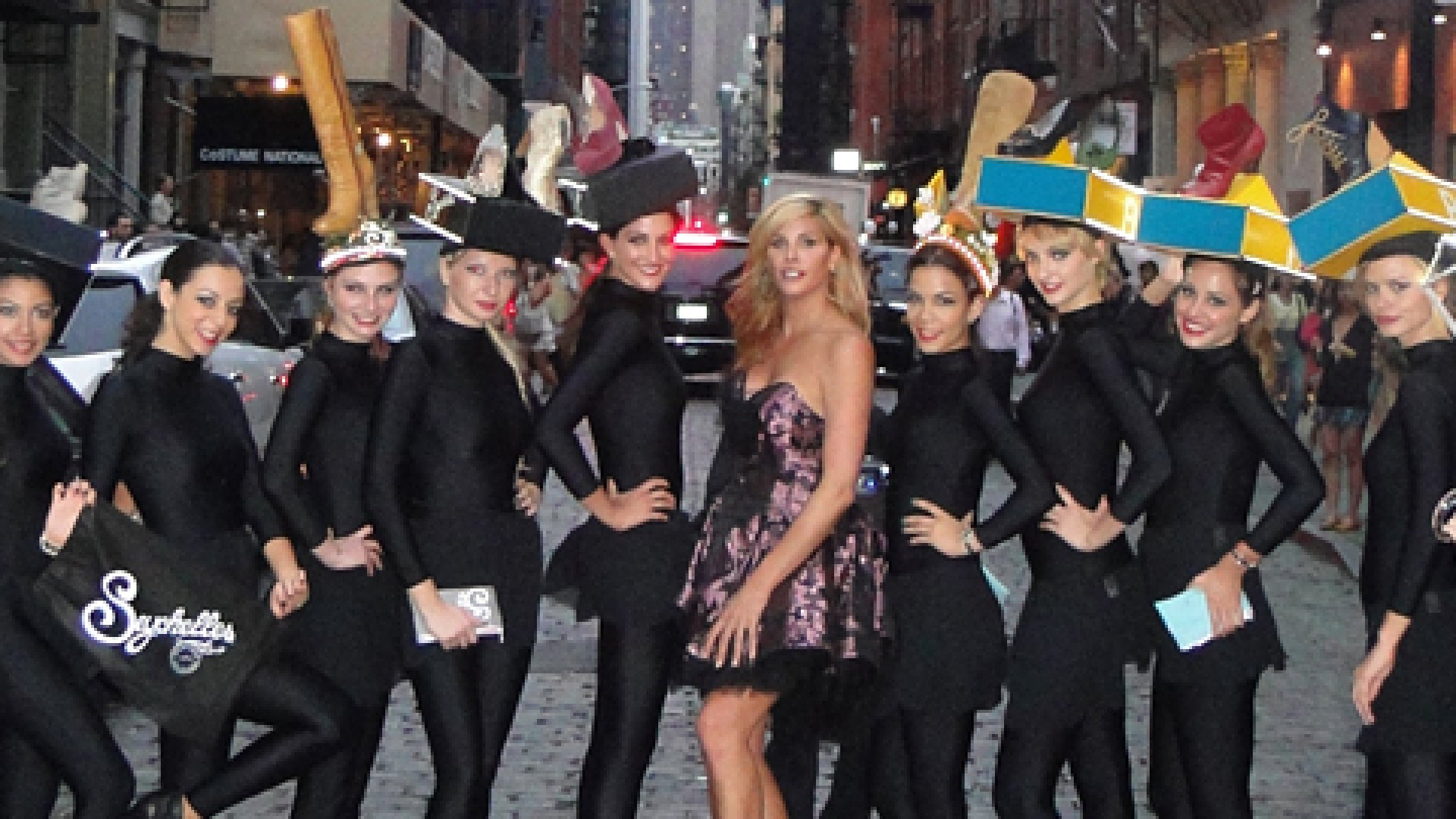 For the Seychelles Shoe Fashion Night Out 2011, Factory 360 had models in custom-designed hats featuring shoes from the new spring line march the streets of New York city neighborhoods as a guerrilla marketing tactic.