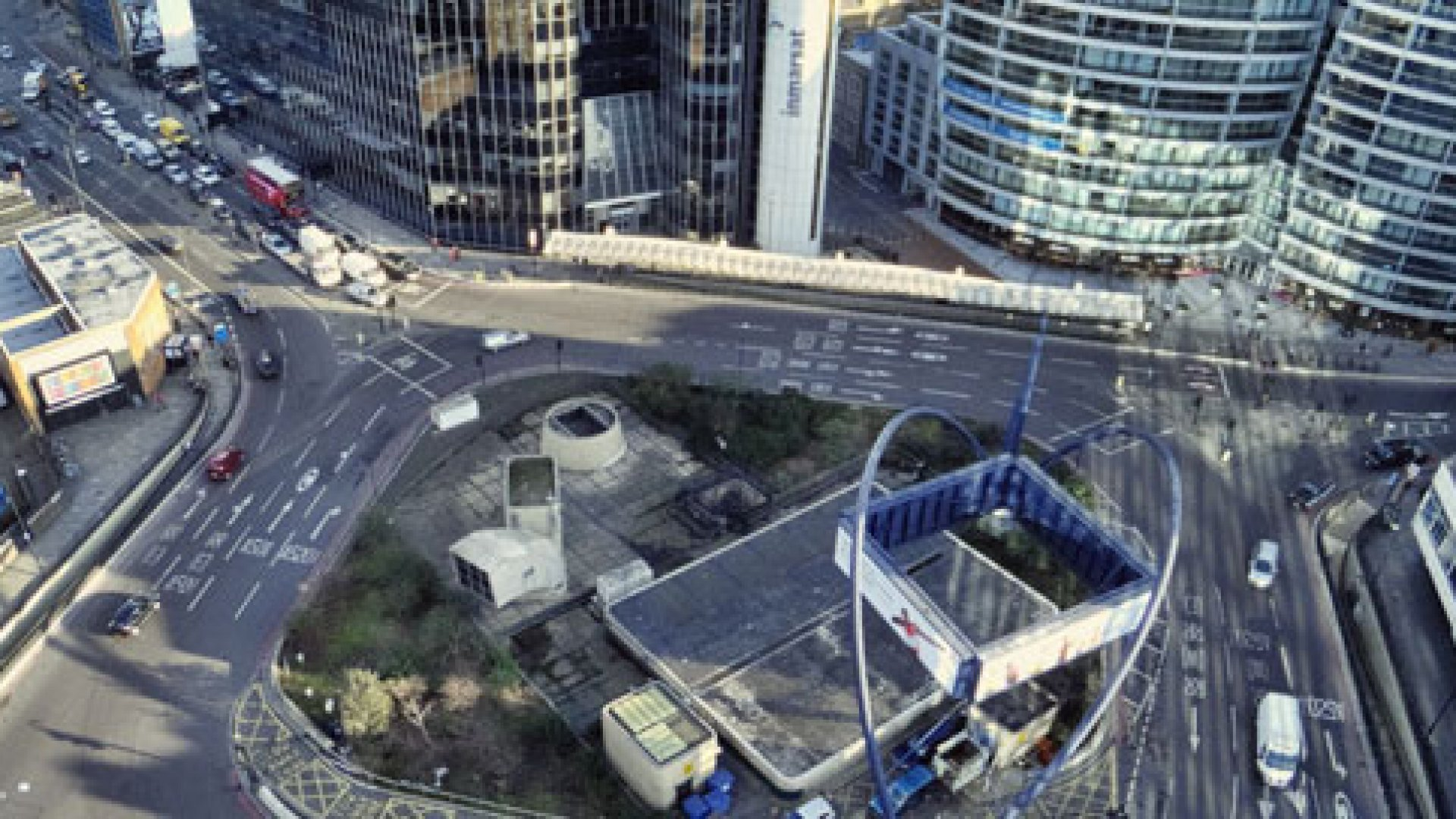 """<strong>NEW EYE VIEW:</strong> Welcome to the new """"Silicon Roundabout,"""" formerly better known as the Old Street roundabout in Shoreditch."""