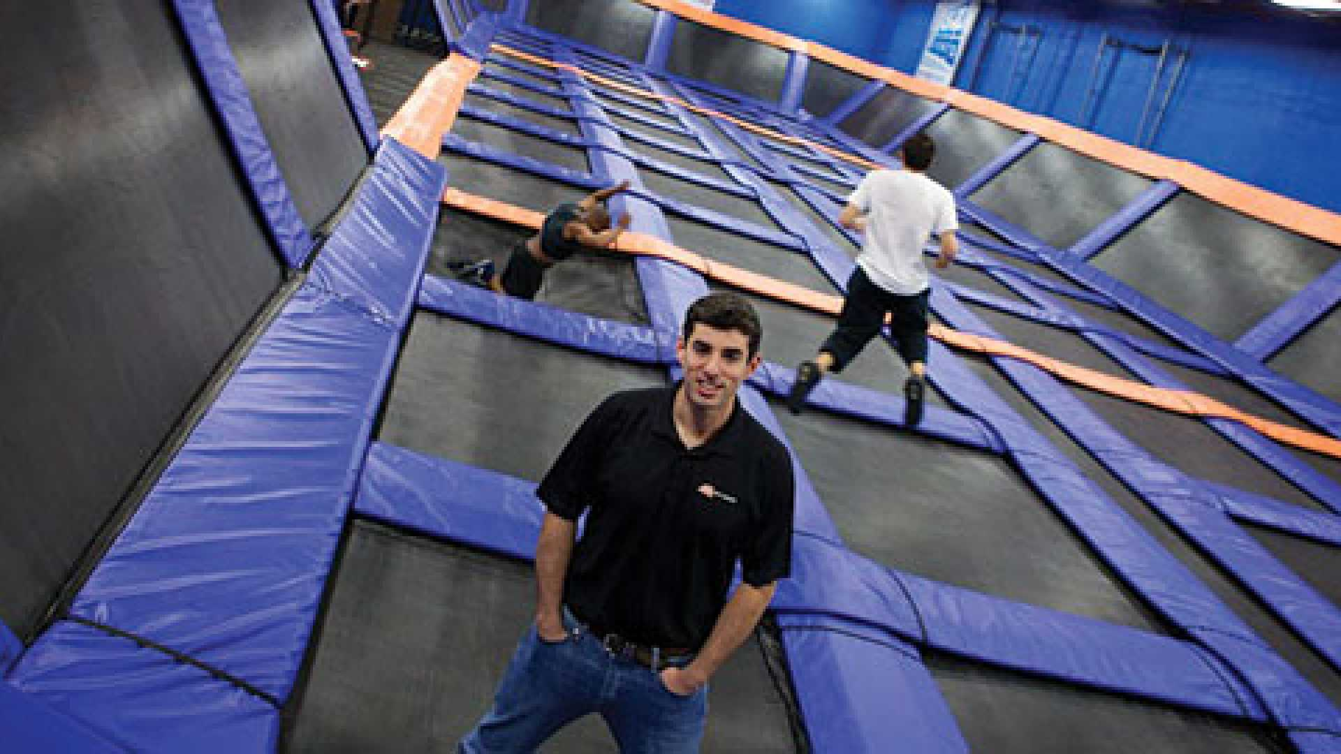 Sky Zone's co-CEO Jeff Platt started a franchise of trampoline courts with his father.
