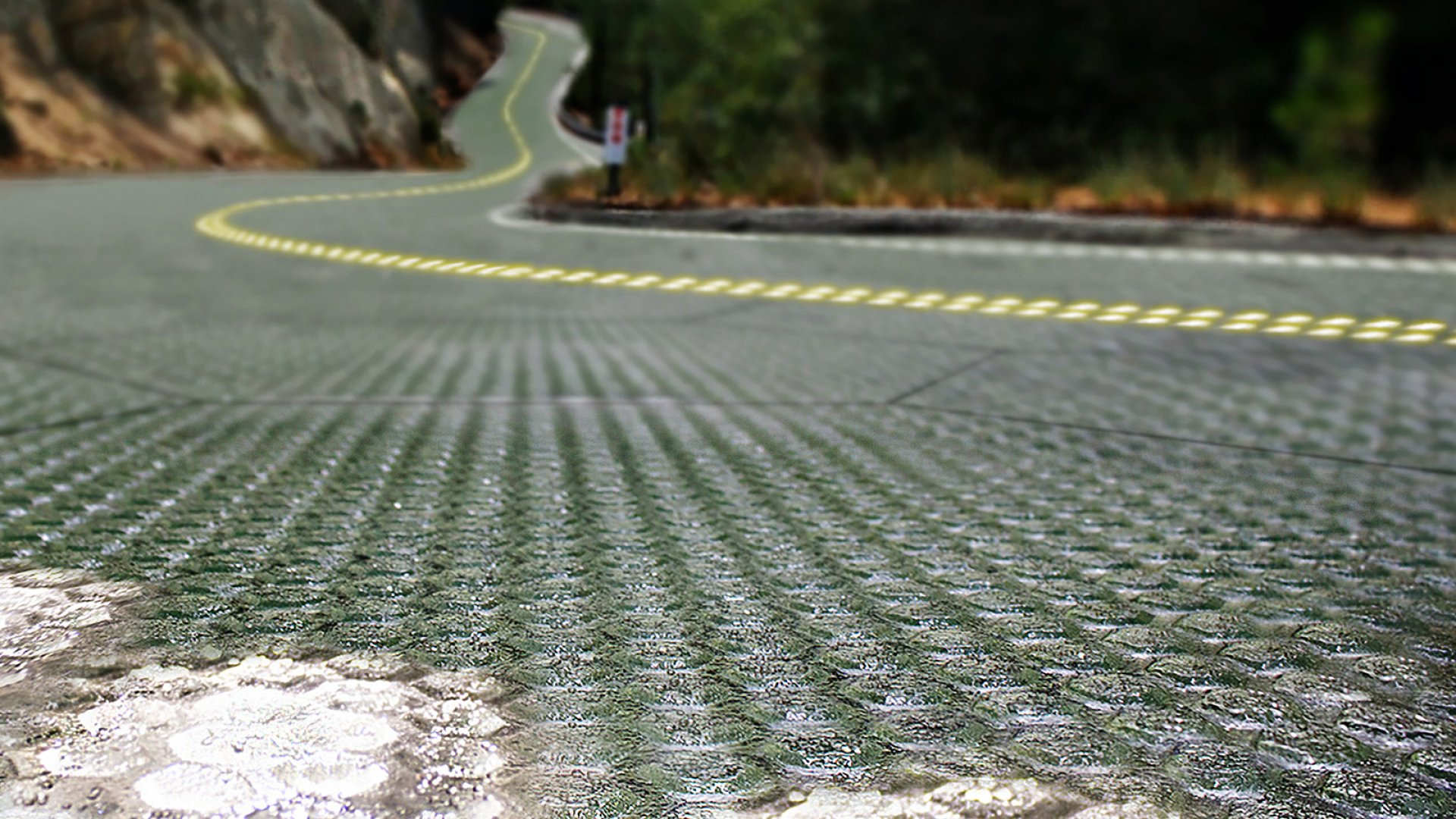 Rendering of a Solar Roadway.