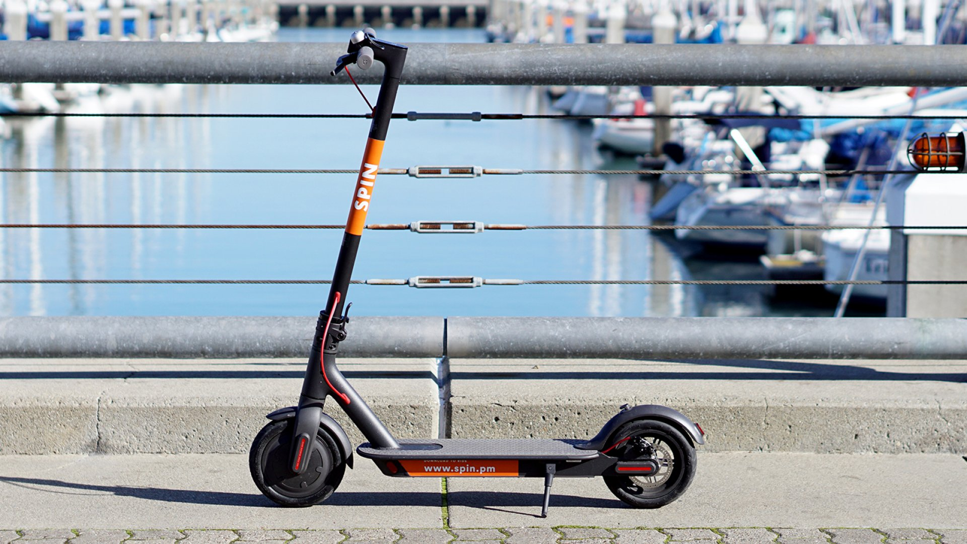 Spin electric scooter.