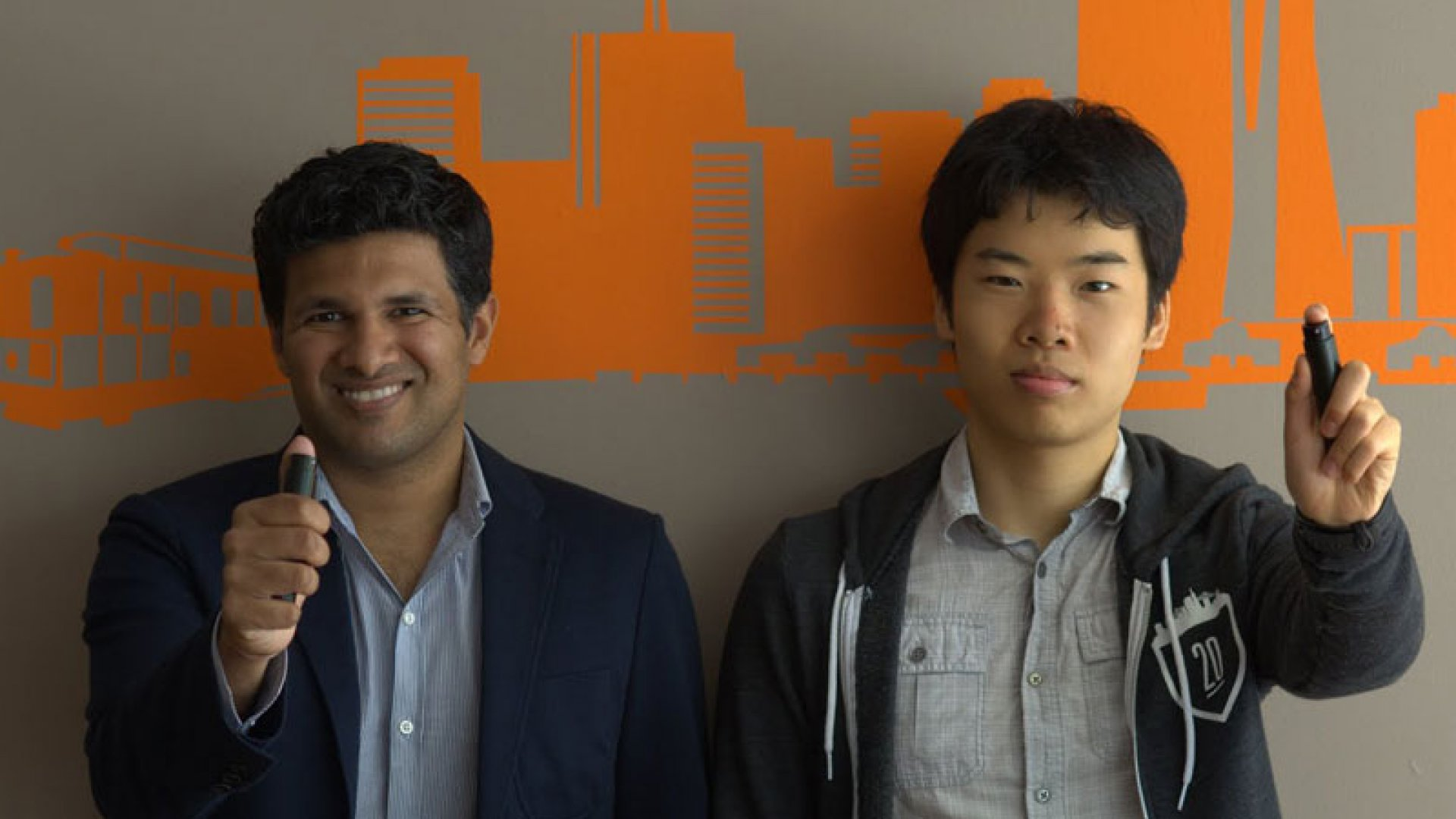 Sprayable co-founders Deven Soni and Ben Yu.
