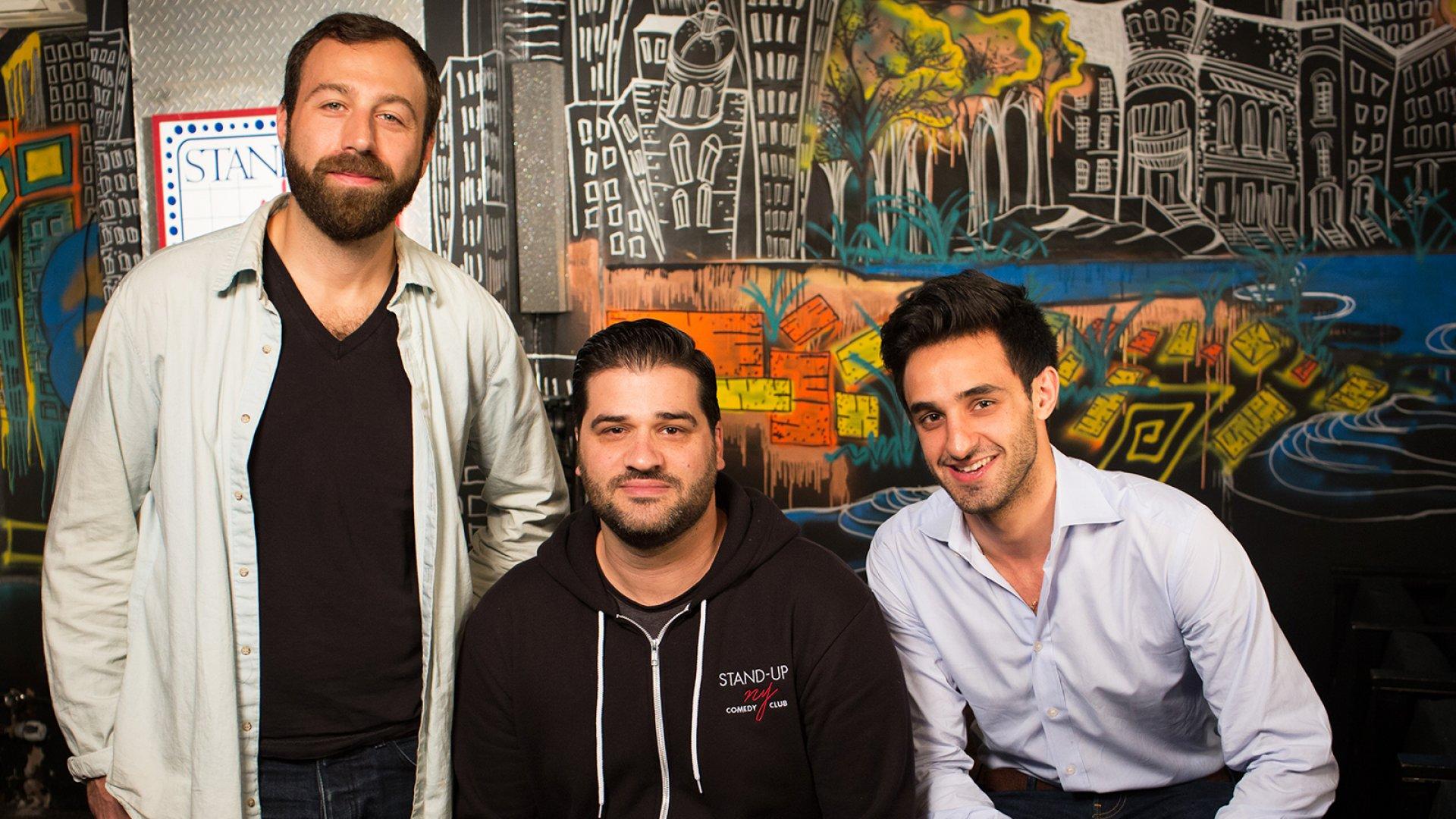 Founders of Skitish Media Jonathan Fatigate (left), Dani Zoldan, and Judah Meiteles.
