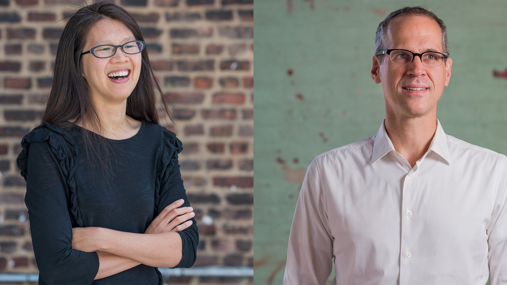 Lisa Chow (left) and Alex Blumberg host the <em>StartUp</em> podcast, now in its third season.