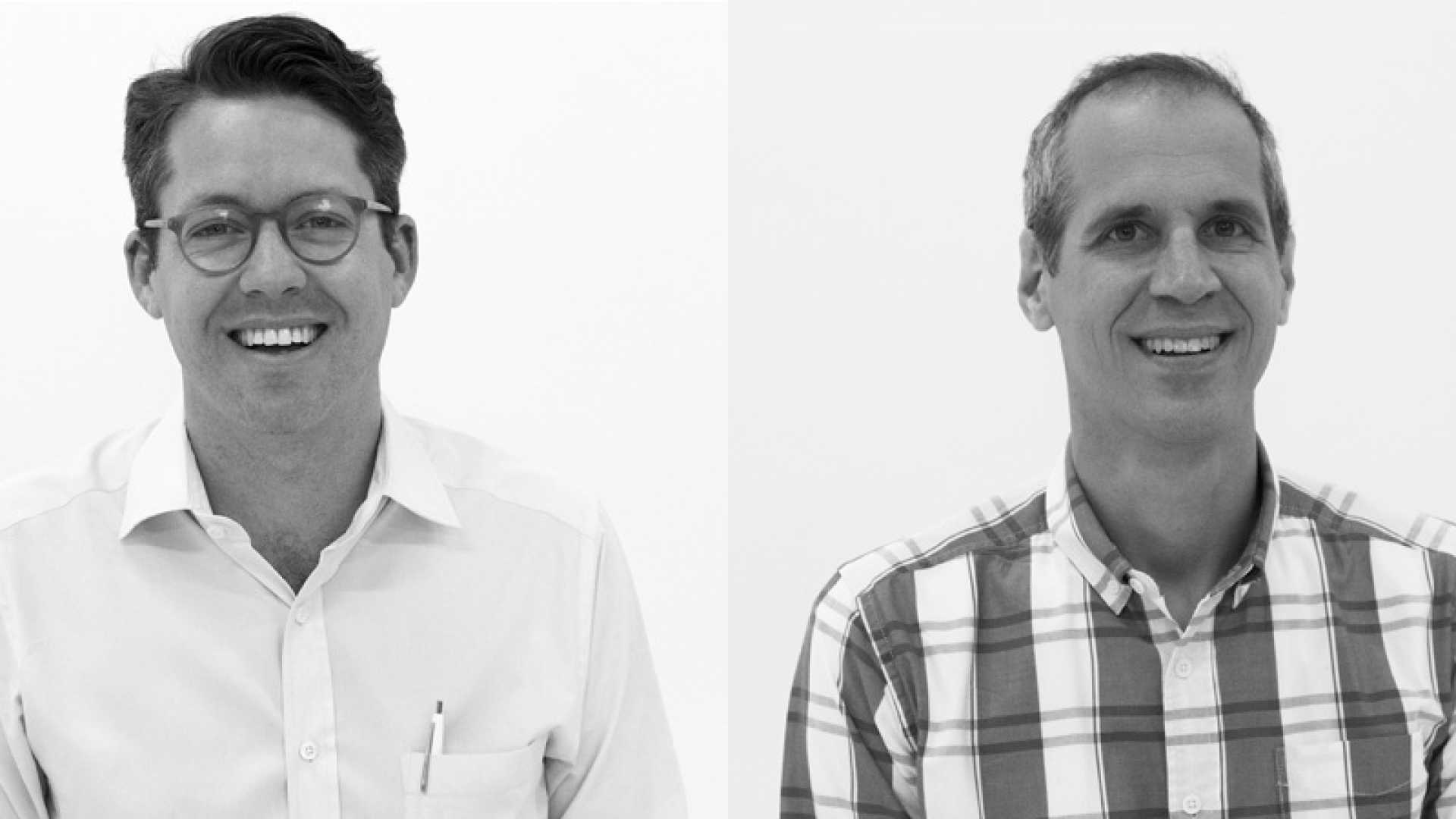 Matthew Lieber and Alex Blumberg of Gimlet Media, a network of podcasts launched in Brooklyn, New York.