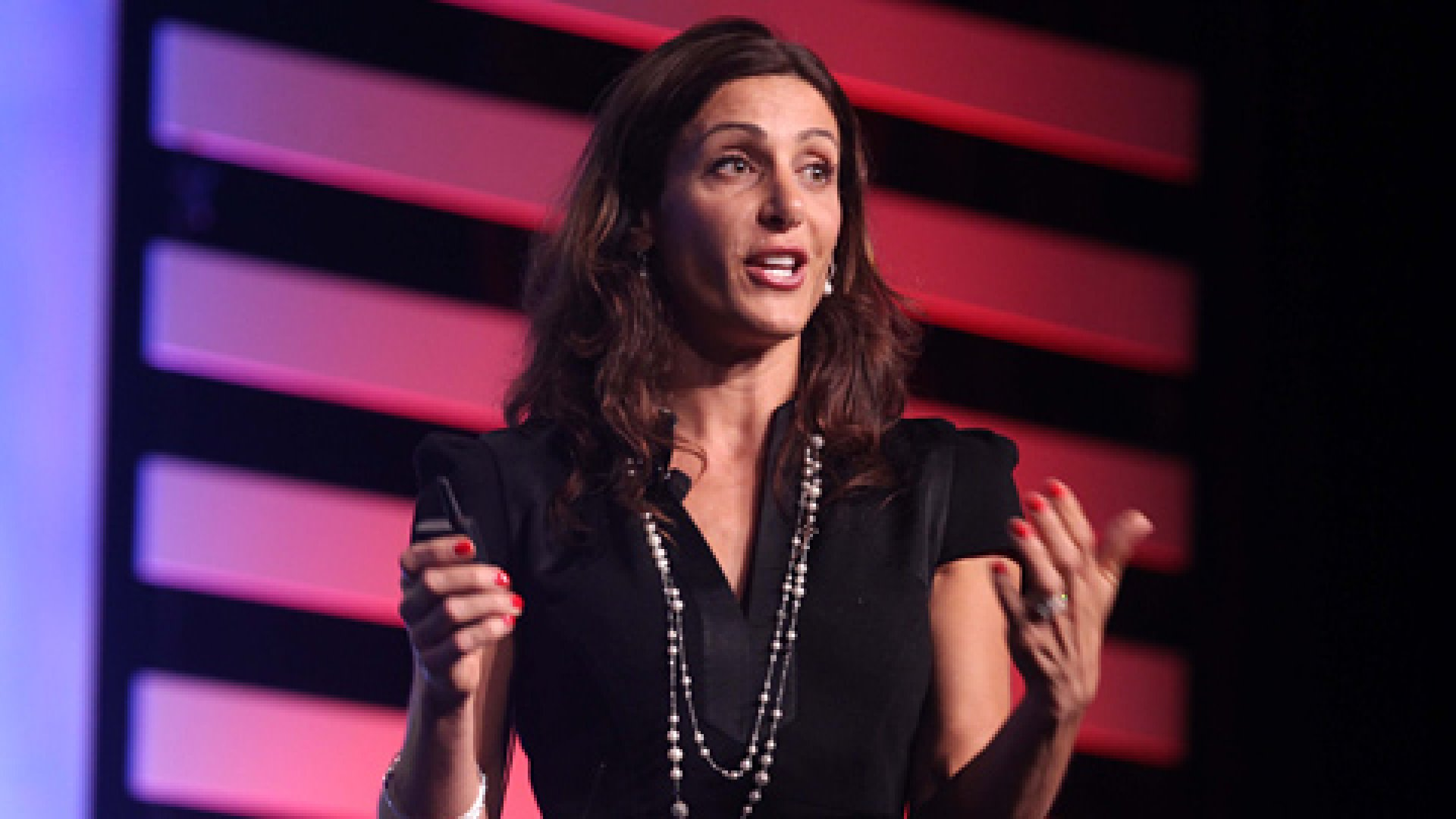 Stella and Dot CEO Jessica Herrin speaking during her Balance is the New Business general session at the Inc. 500 conference.