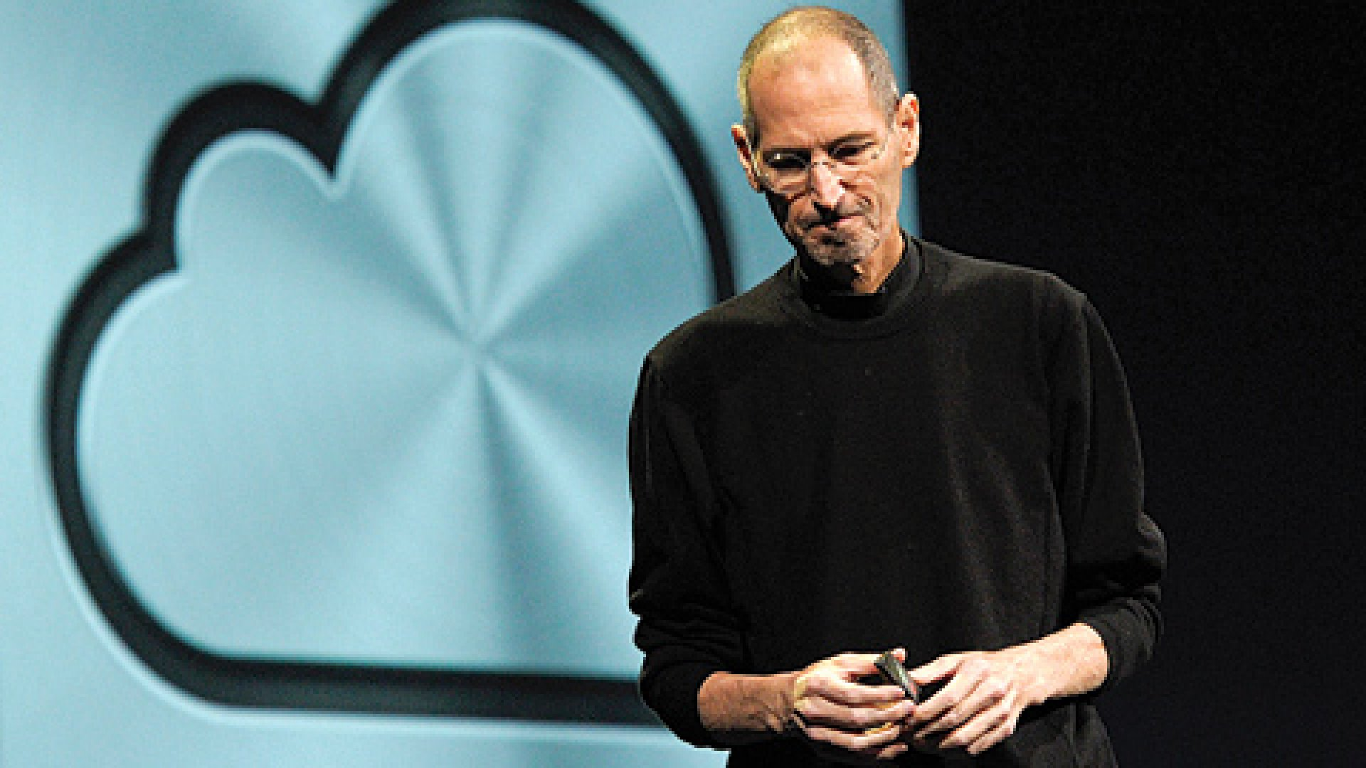 Steve Jobs unveils the iCloud storage system at the Apple Worldwide Developers Conference 2011 in San Francisco, California.