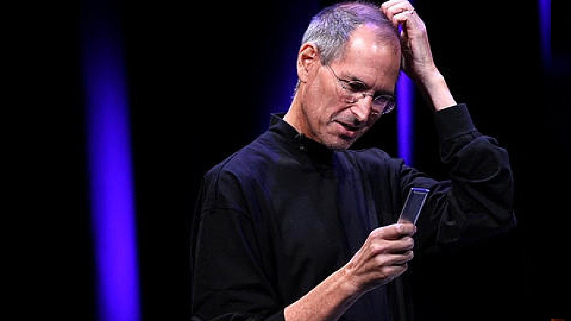 Steve Jobs during a demo of the iPod.