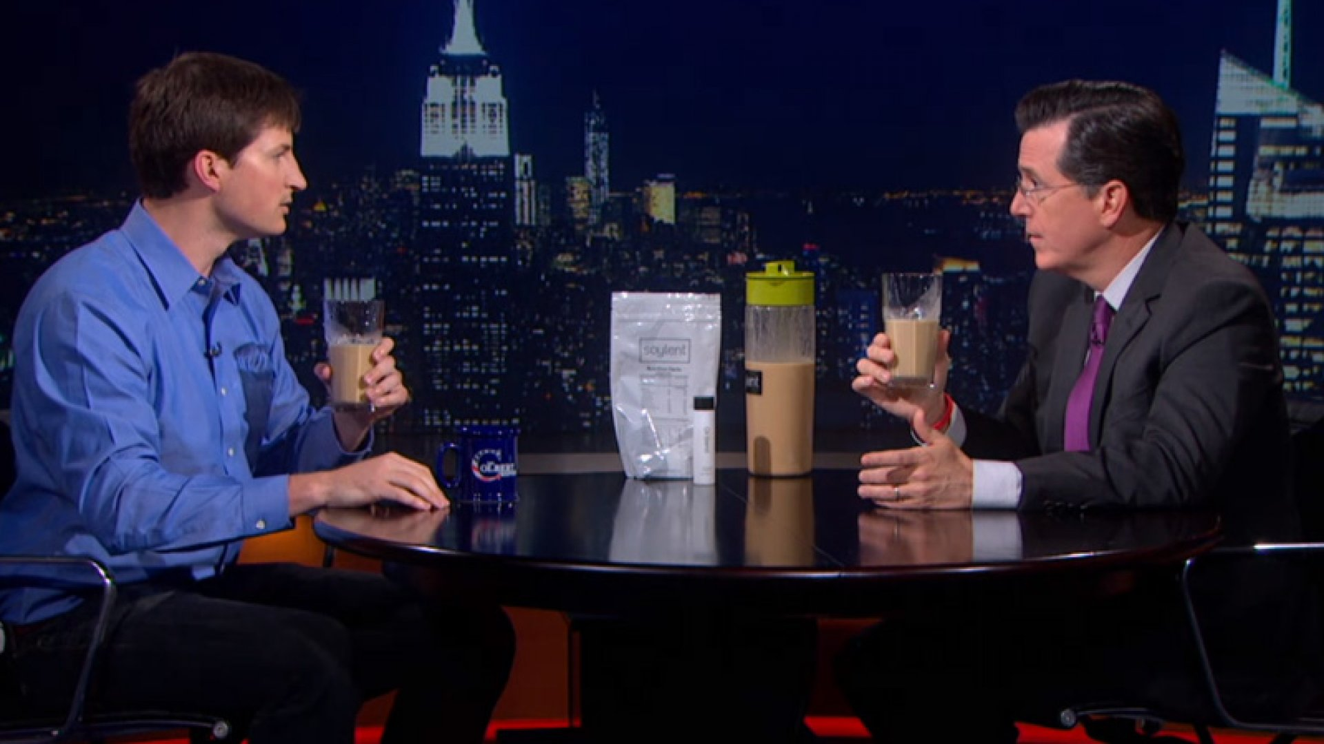 Stephen Colbert Taste Tests Soylent... And Finds It Delicious?