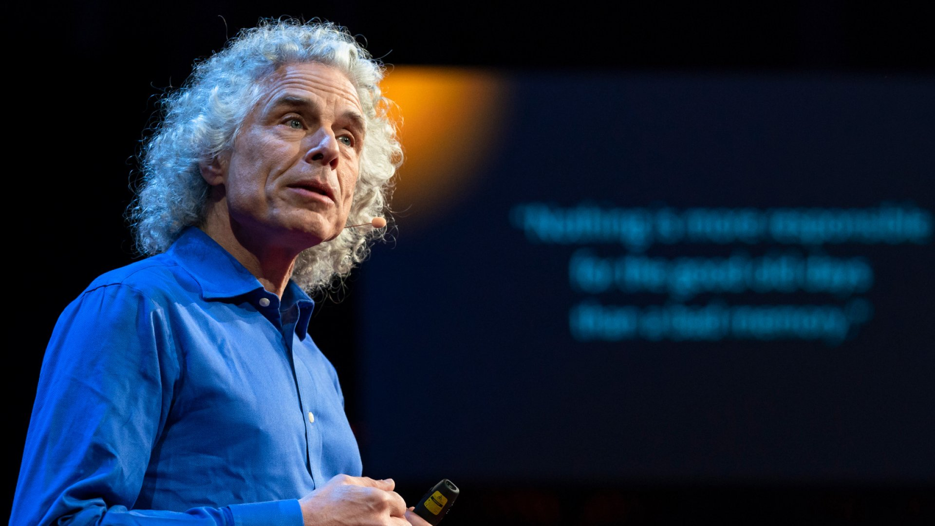 Steven Pinker speaks at TED2018 in Vancouver, BC, Canada.