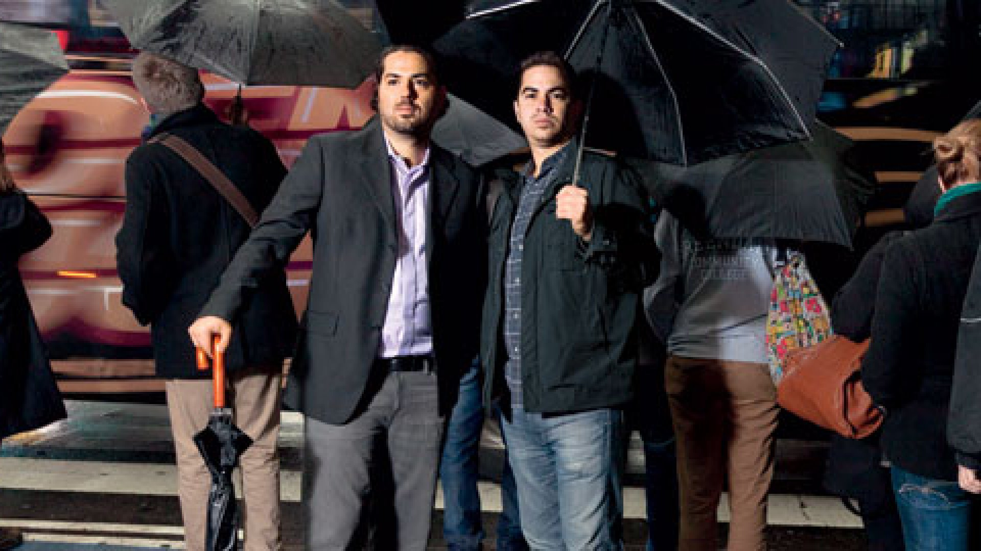 <b>Gathering Storm</b> Josh Levy (left) and Ross Cohen were down to their last $50,000.