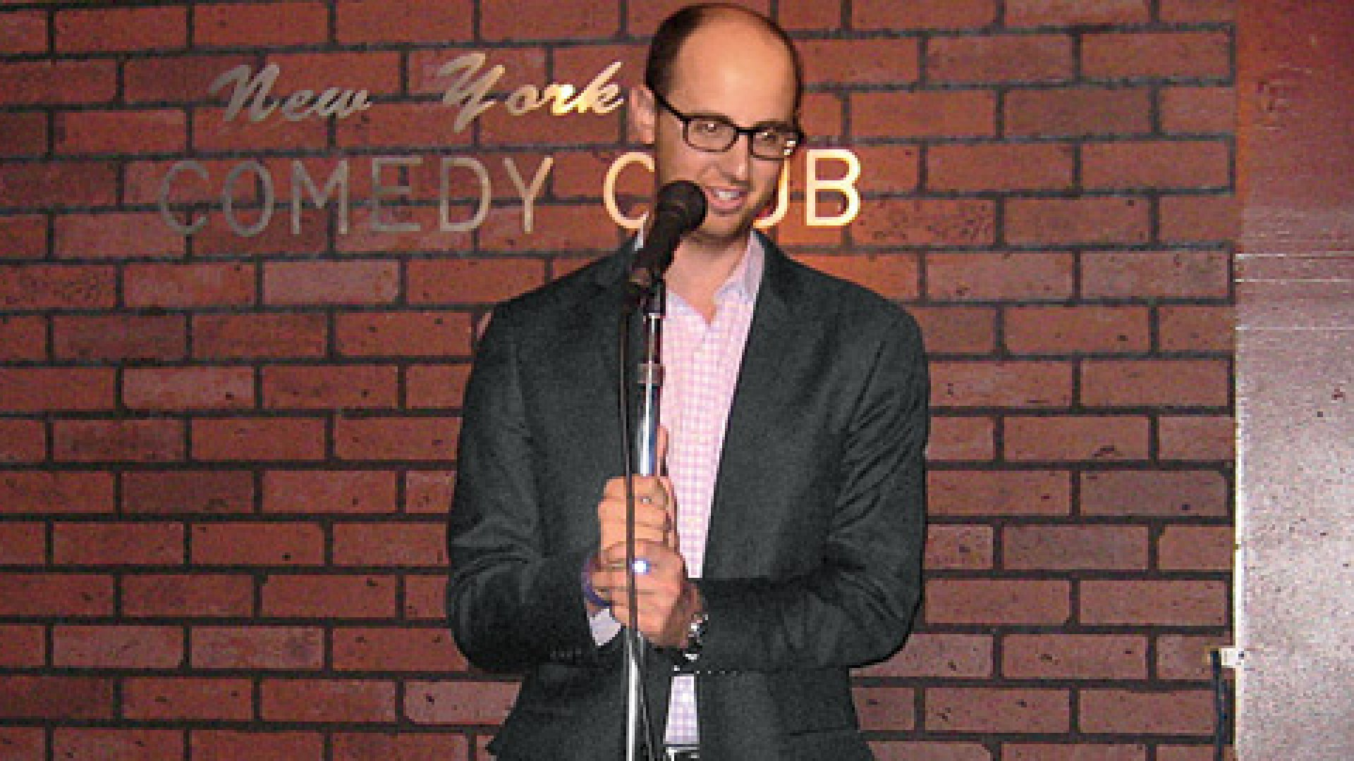 <b>Anything for a Laugh </b>Jason Green, an account executive for the New York PR agency Peppercom, in his debut comedy routine
