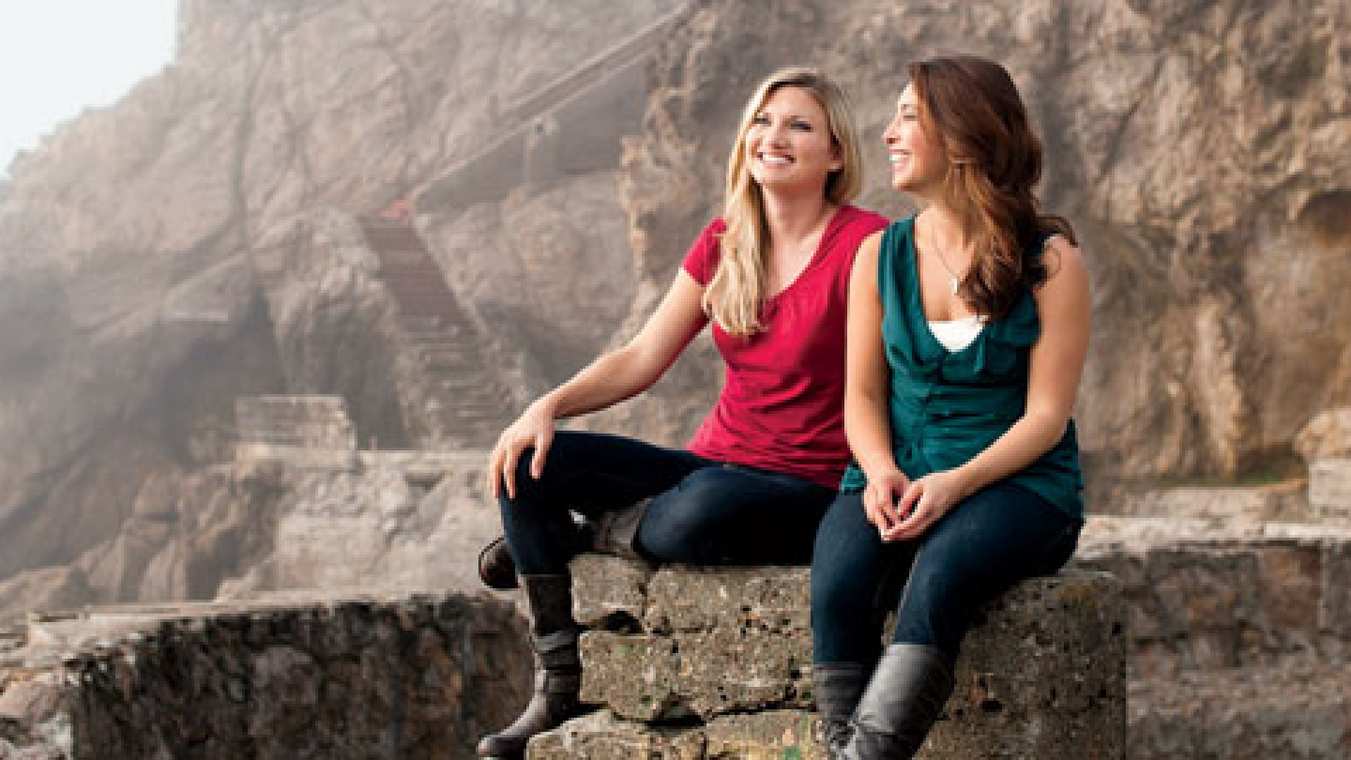 <b>Far From the Madding Crowd</b> Vayable's co-founders, Shelly Roche (left) and Jamie Wong, want to take tourists where guide books don't, like the old Sutro Baths here in San Francisco.
