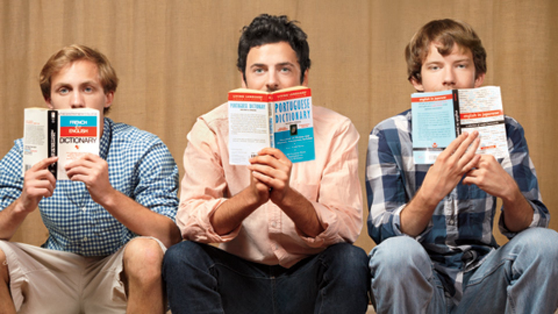 <b>Big Talkers</b> Verbling's co-founders &mdash; (from left) Jake Jolis, Mikael Bernstein, and Fred Wulff &mdash; are collectively fluent in six languages.